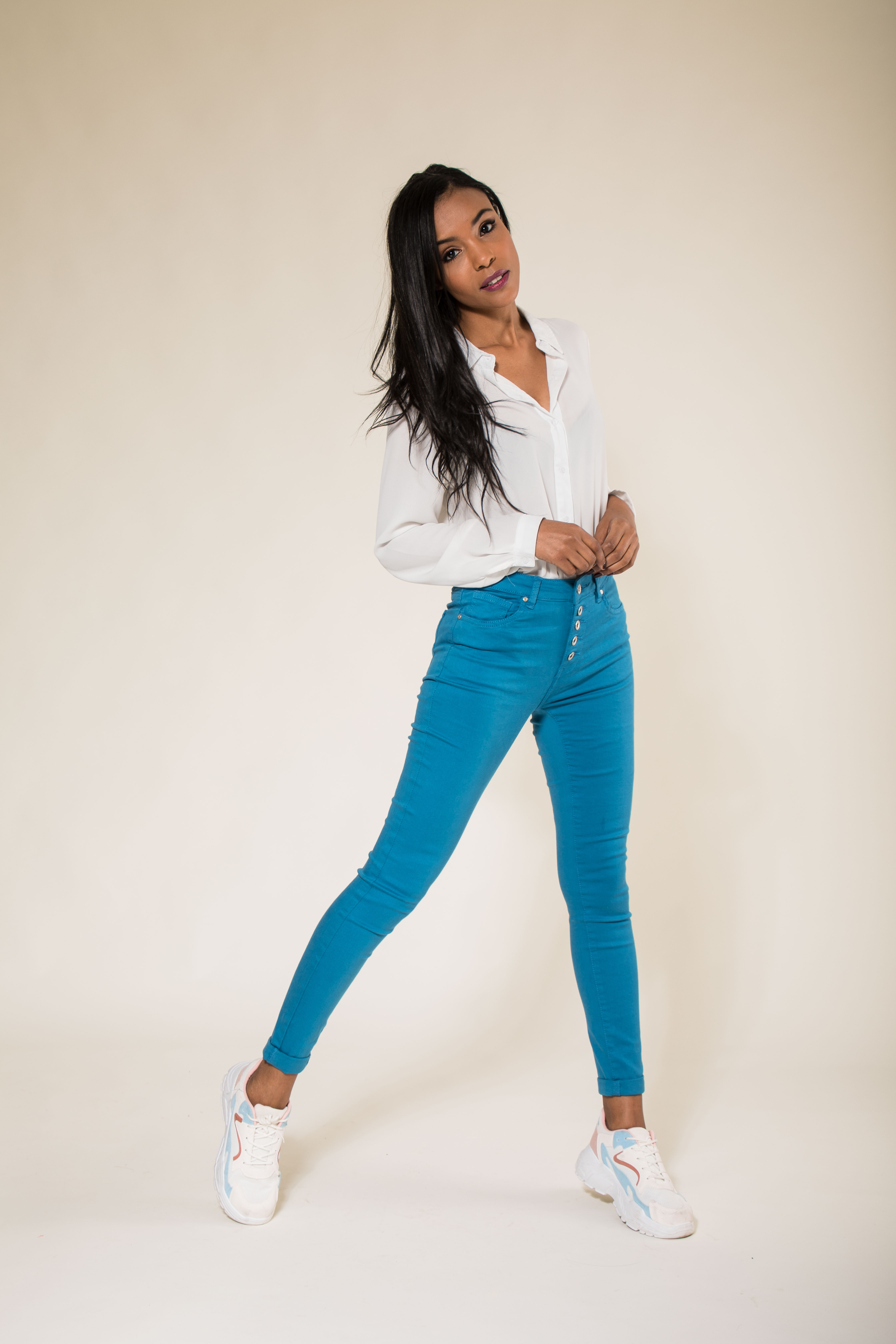 Women-High-Waisted-Jeans-Ladies-Coloured-Stretchy-jeggings-Pants-Size-6-14 thumbnail 13