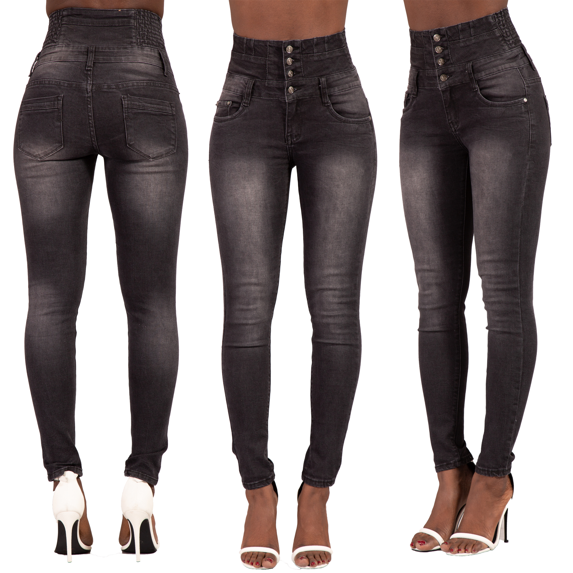 best site many fashionable price Details about Women High Waisted Denim Skinny Jeans Ladies Stretch Pants  SIZE 6-16