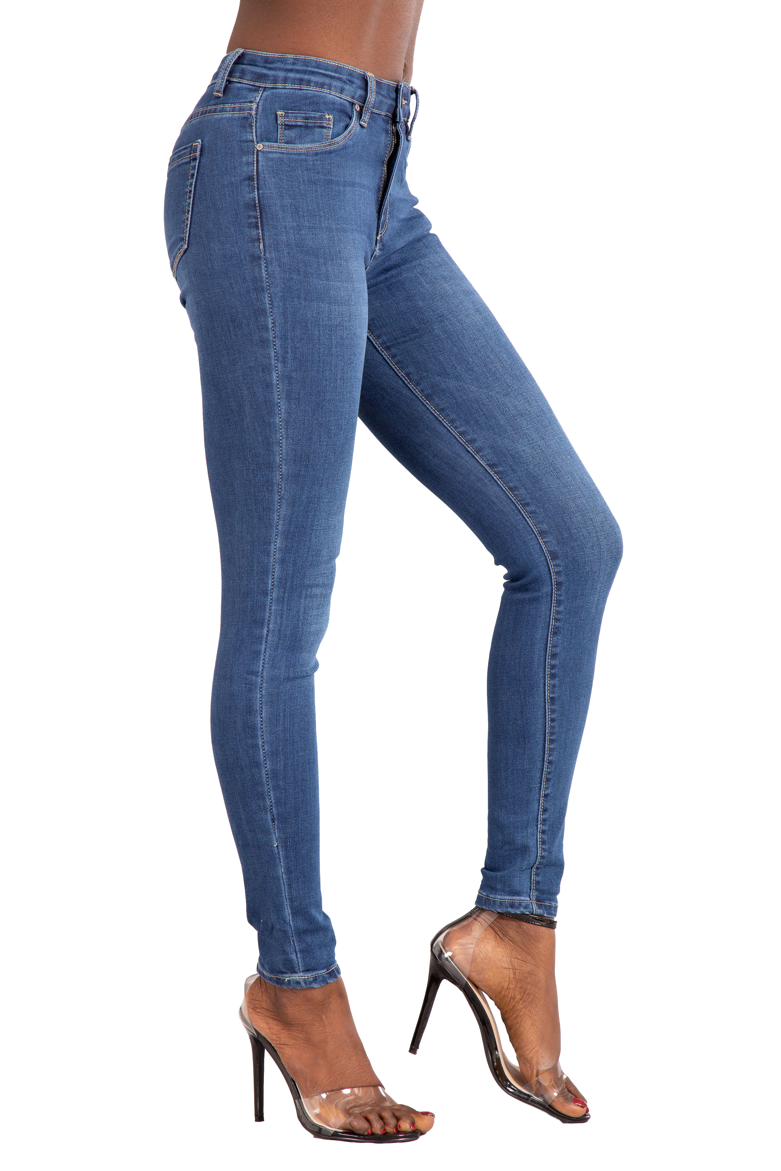 WOMENS HIGH WAISTED STRETCHY SKINNY SLIM TUBE JEANS LADIES JEGGINGS PANTS 6-20