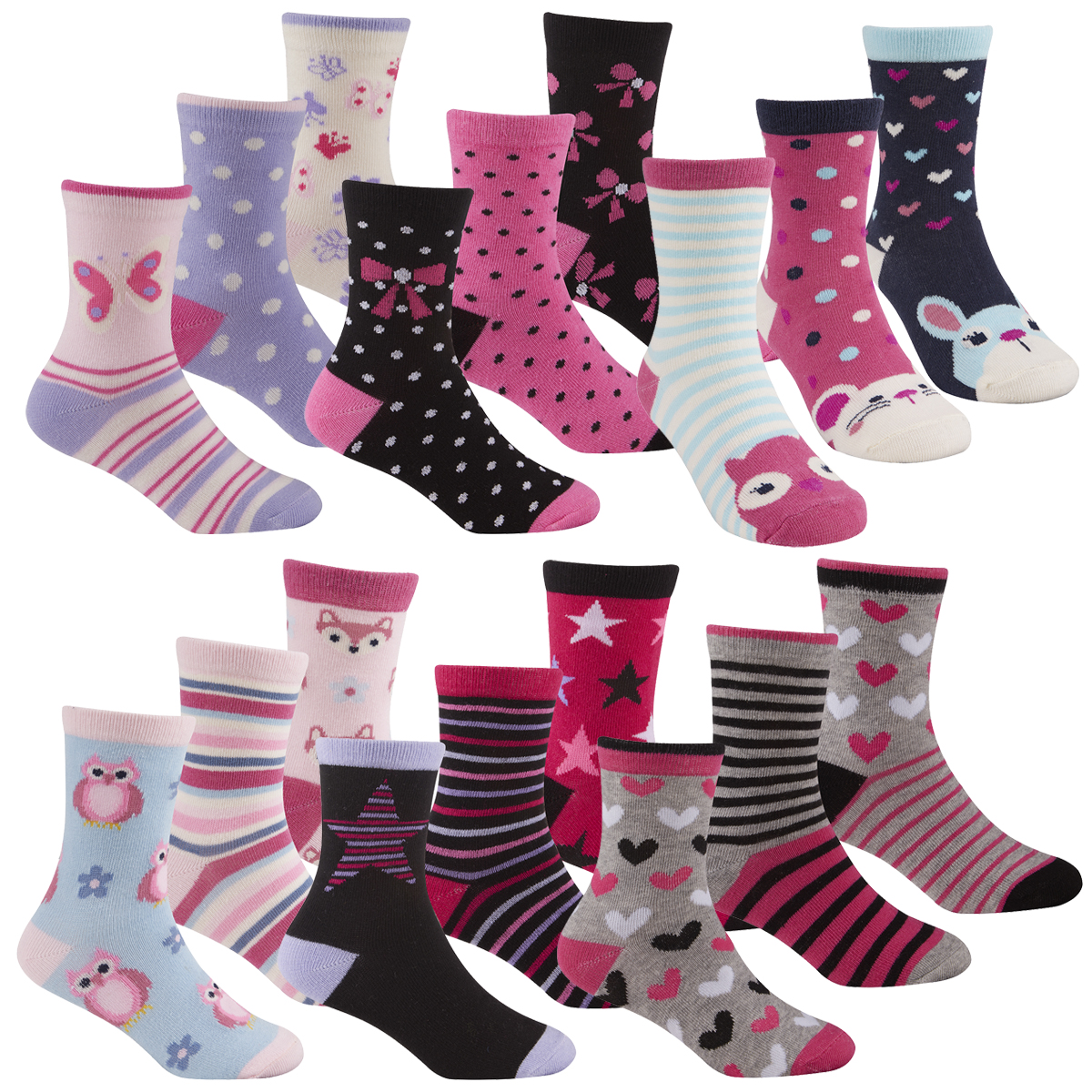 9 Pairs Cute Socks for Baby Girls Cotton Coming Pink Cotton Baby Girl Socks
