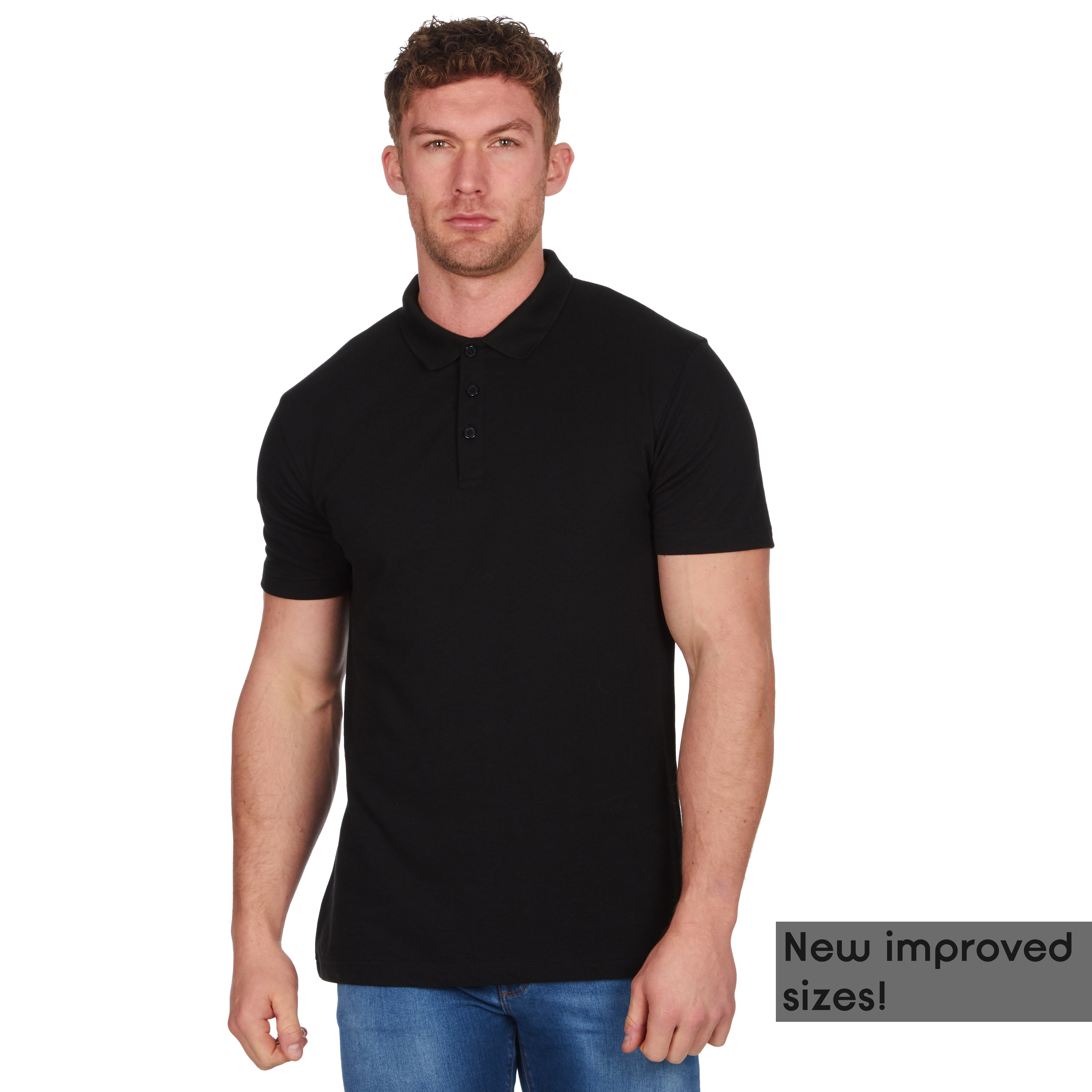 Mens-Classic-Polo-Top-Plus-Size-T-Shirt-Plain-Shirt-Big-And-Tall-Short-Sleeve thumbnail 3