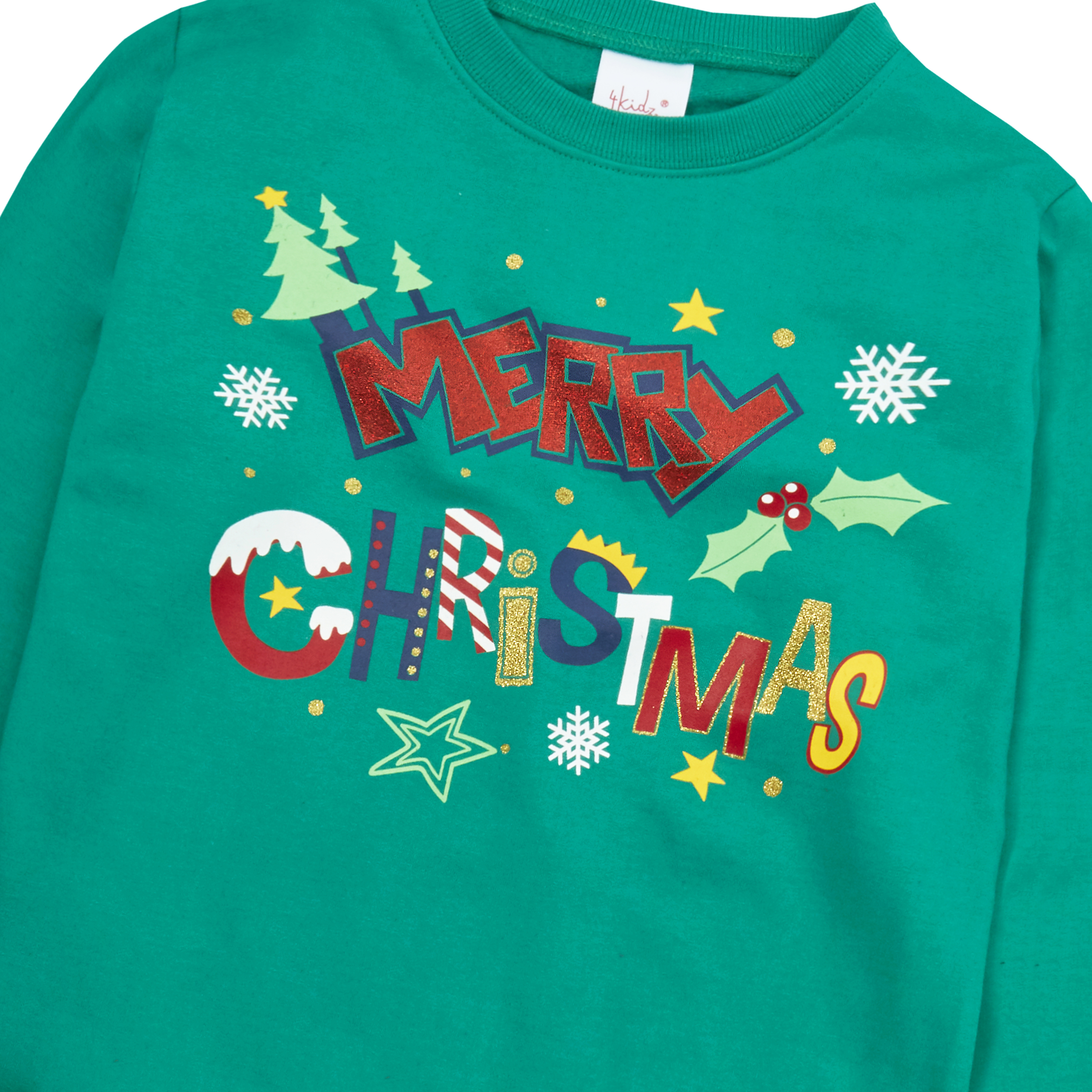 Enfants-Garcons-Filles-Noel-Noel-Pull-Sweat-shirt-Carlin-Glitter-chaud miniature 22