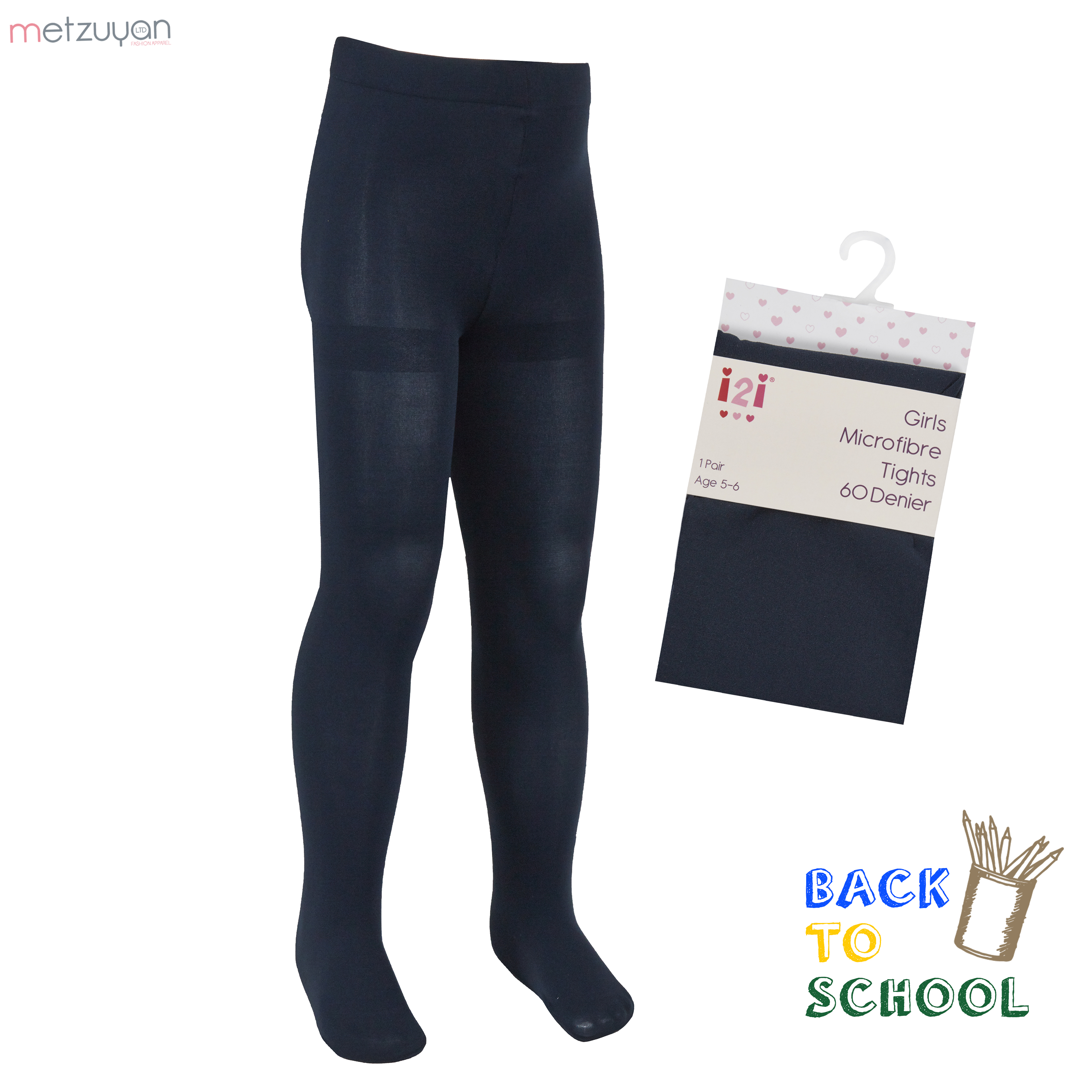 New Girls And Women 70 Denier Stretchy Opaque Fashion Tights Back To School