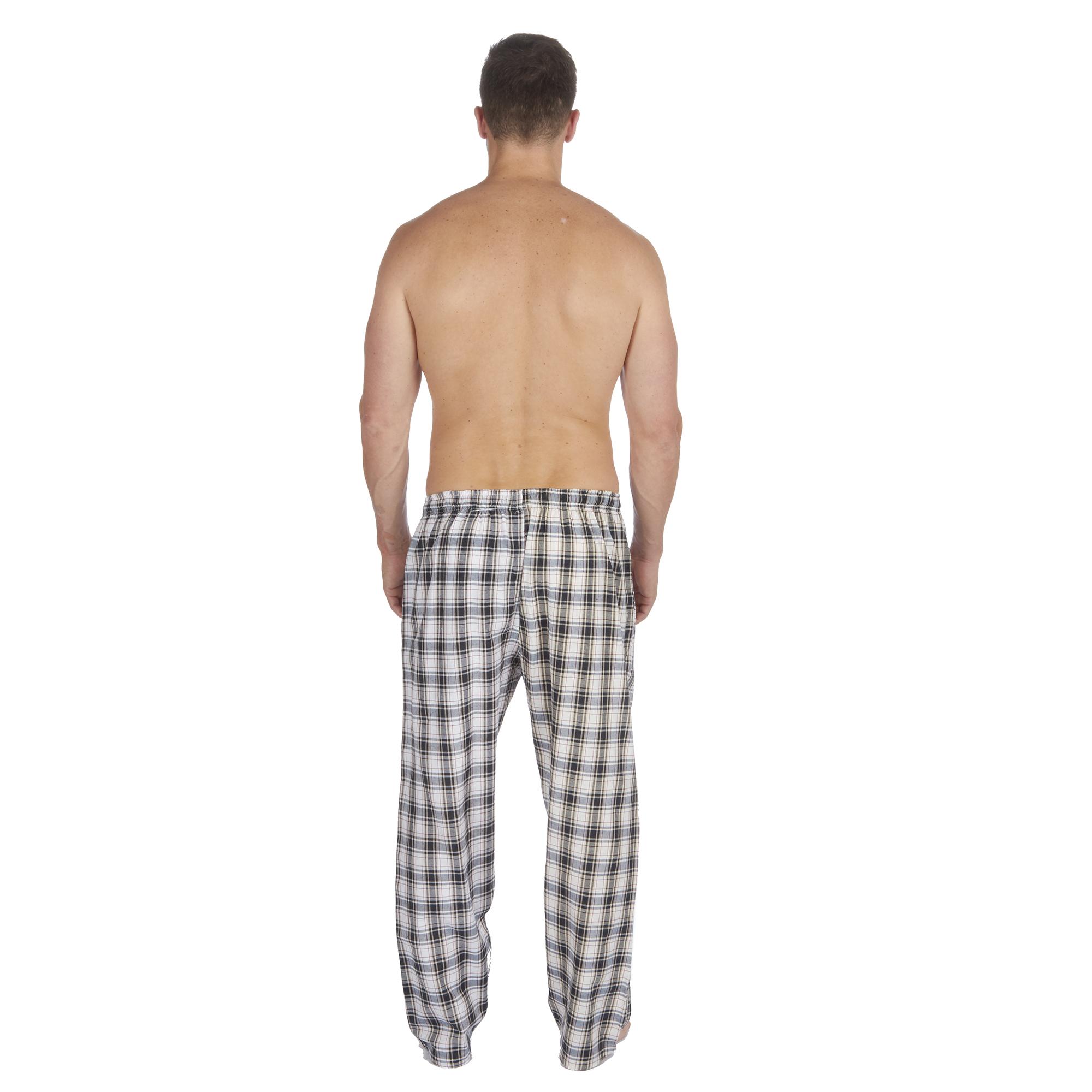 Jason-Jones-Homme-Carreaux-Tisse-Pyjama-Pantalon-en-Coton-Melange-Serge-PJ-Lounge-Pants miniature 9