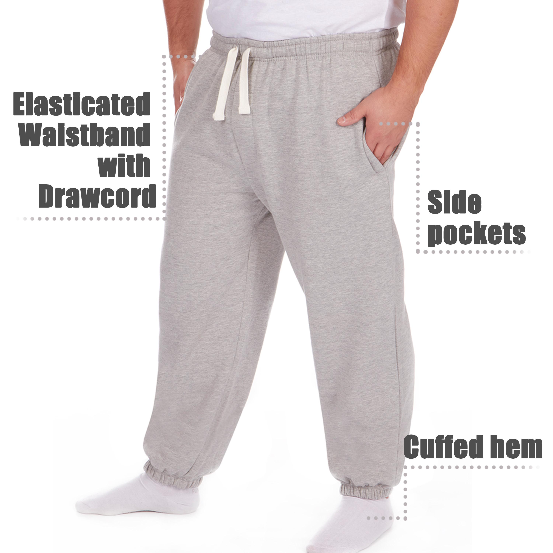 Men-039-s-Plus-Size-Jogging-Bottoms-Sudare-Pantaloni-Da-Jogging-Pantaloni-Orlo-a-manichetta-taglia miniatura 26