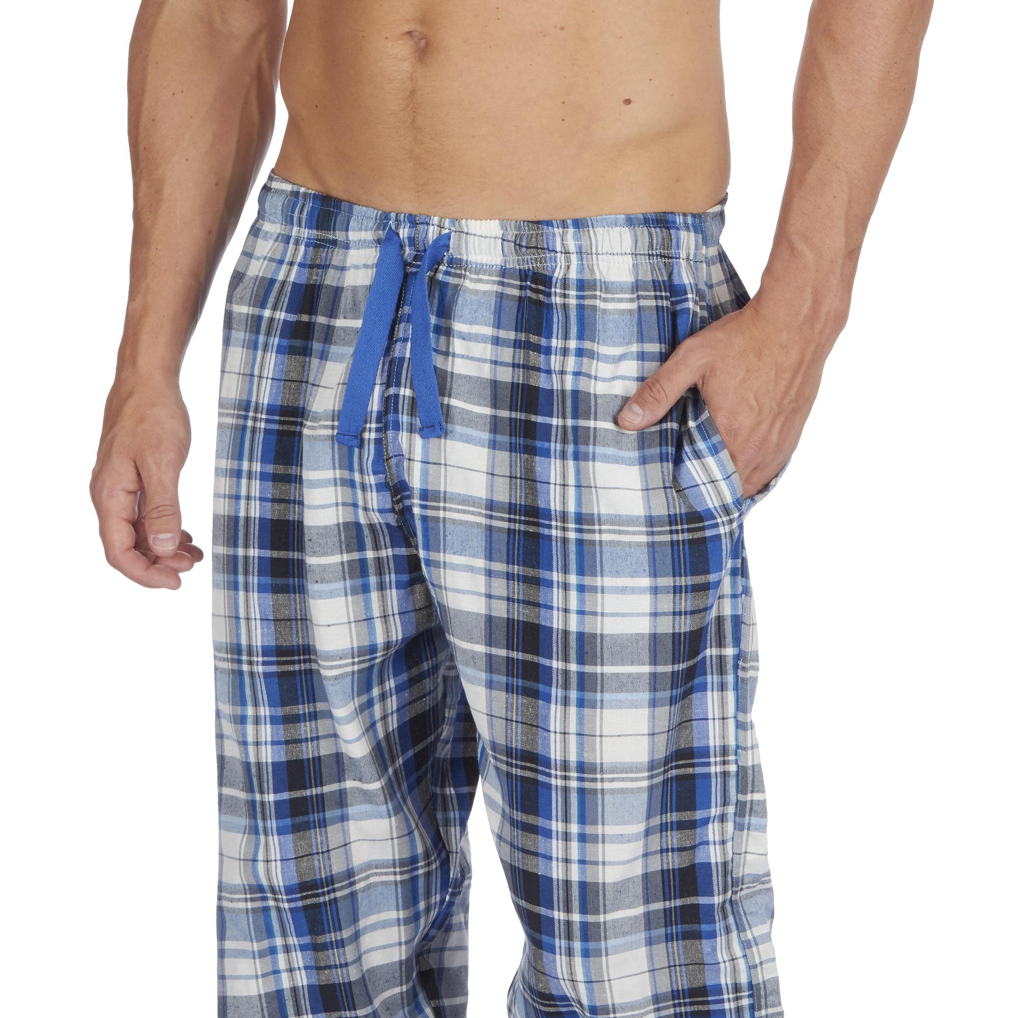 Jason-Jones-Homme-Carreaux-Tisse-Pyjama-Pantalon-en-Coton-Melange-Serge-PJ-Lounge-Pants miniature 18