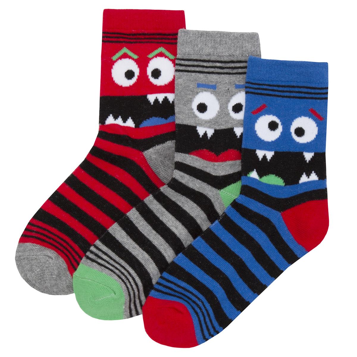 Kids Childrens Boys Novelty Cotton Socks Football Gaming Multipack 6-9 Pairs