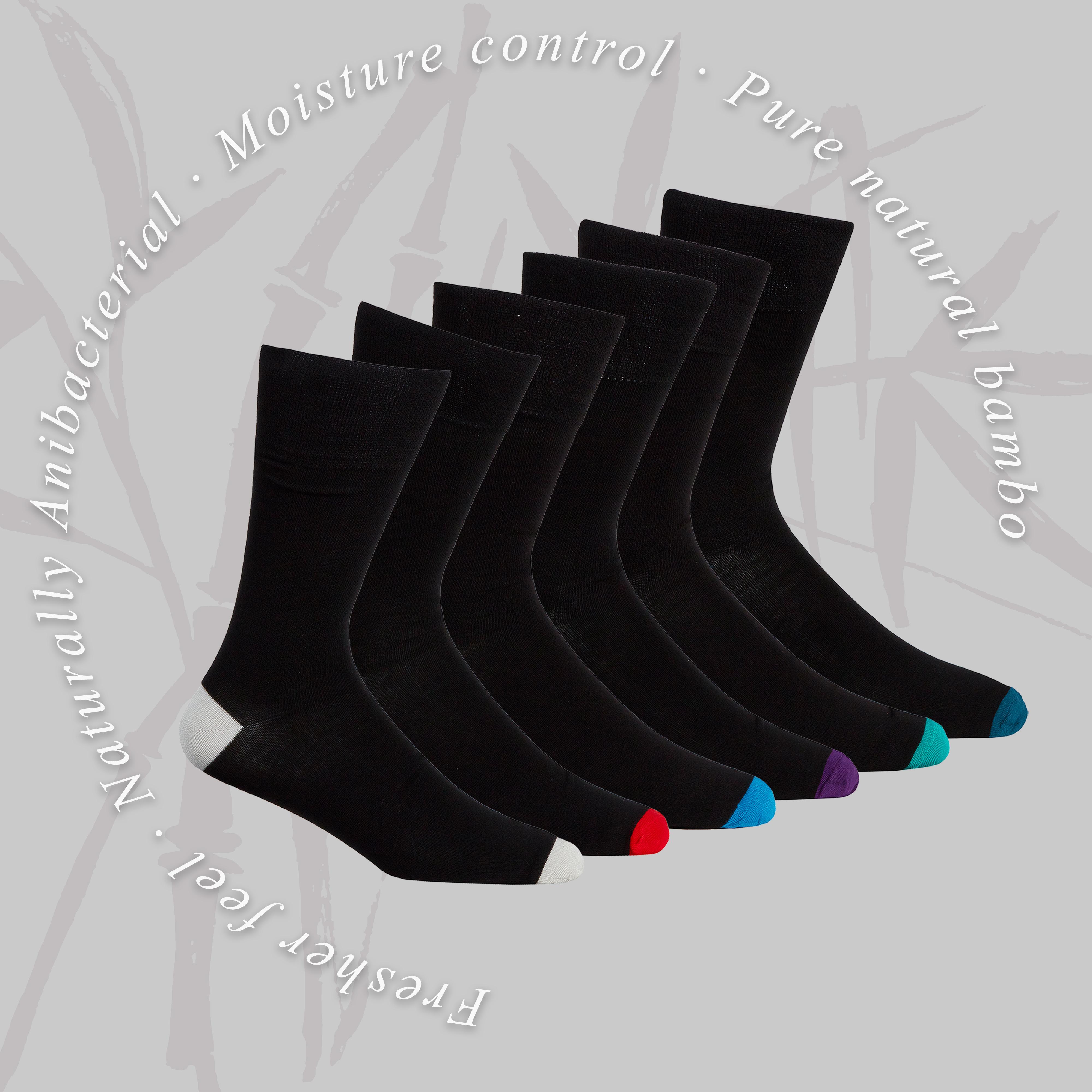 Mens 3 6 Pairs Luxury Bamboo Non Elastic Diabetic Socks Gentle Soft Size 6-11