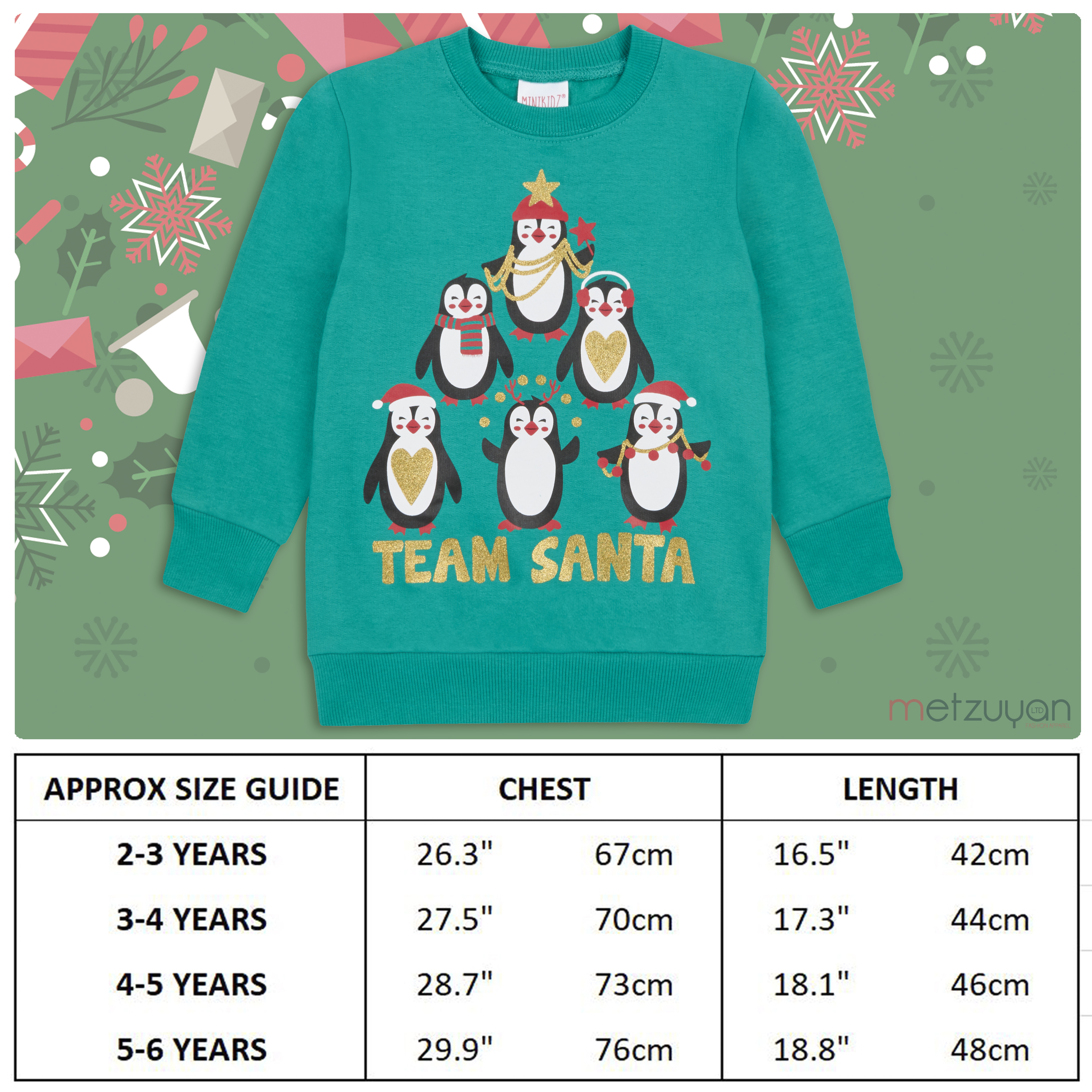 Childrens-Kids-Boys-Girls-Christmas-Xmas-Jumper-Sweatshirt-Rudolph-Glitter-Warm thumbnail 4