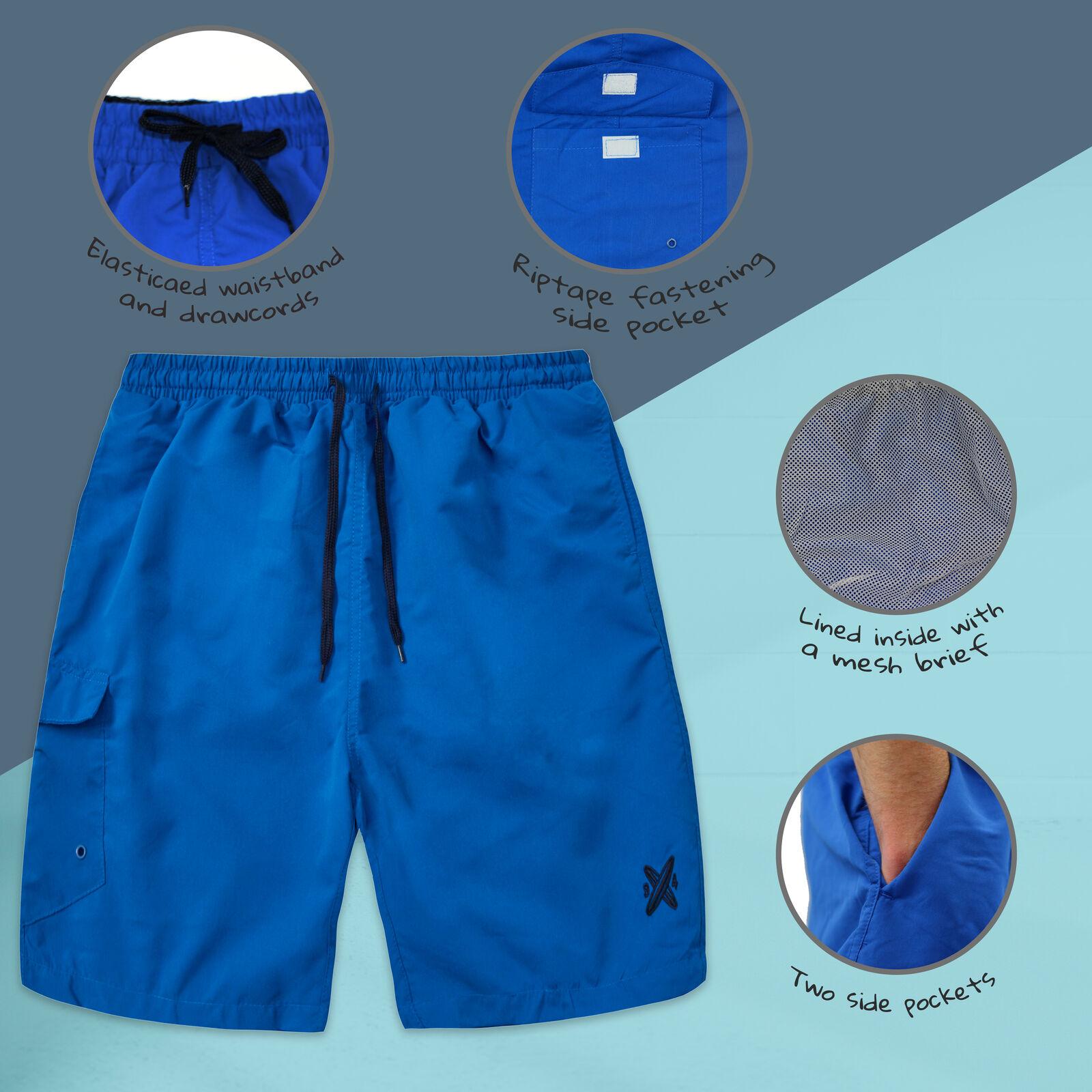 Da Uomo 3 Pack Quick Dry Swim Wear Pantaloncini BAULI tasche SURF BOARD TAGLIE FORTI