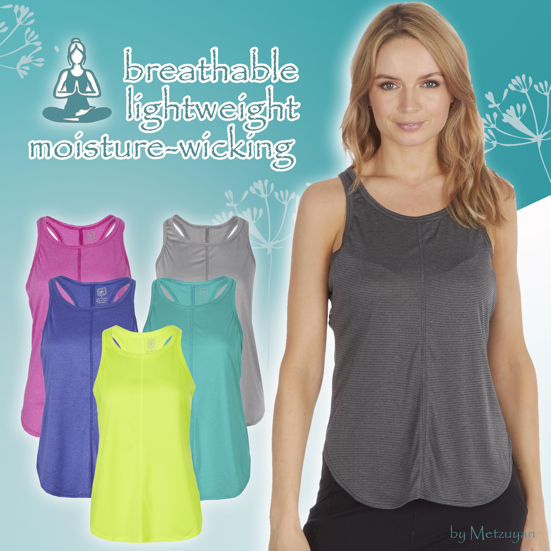 Ladies VEST Activewear Running Workout Gym//Yoga Racerback Tank Top Sports Womens