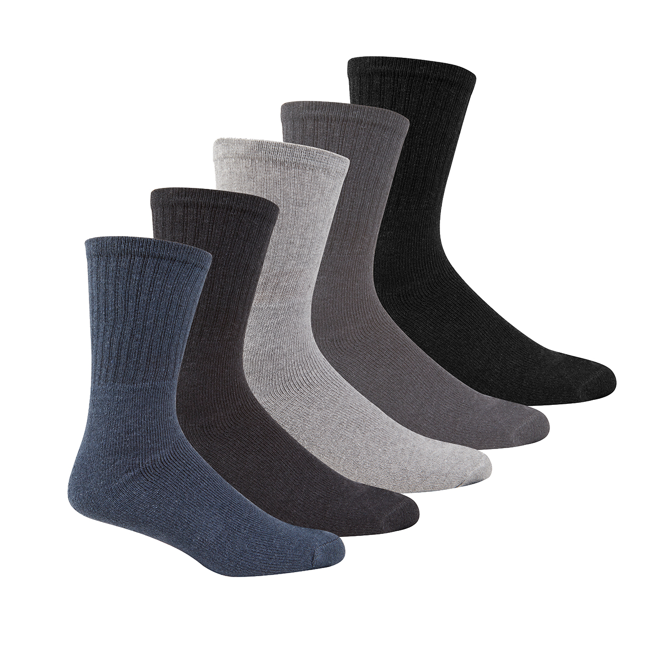 METZUYAN-Mens-10-Pairs-Sports-Socks-Cotton-Rich-Plain-Black-White-Grey-Size-6-11 miniatura 9