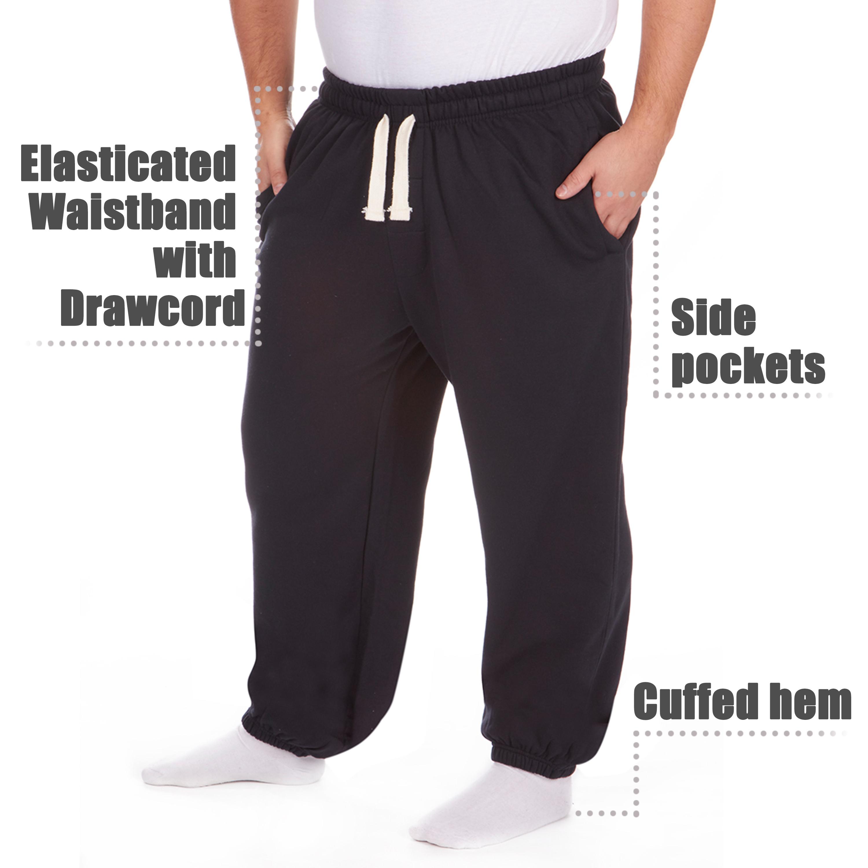 Men-039-s-Plus-Size-Jogging-Bottoms-Sudare-Pantaloni-Da-Jogging-Pantaloni-Orlo-a-manichetta-taglia miniatura 29