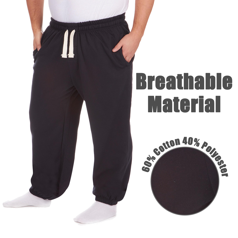 Men-039-s-Plus-Size-Jogging-Bottoms-Sudare-Pantaloni-Da-Jogging-Pantaloni-Orlo-a-manichetta-taglia miniatura 30