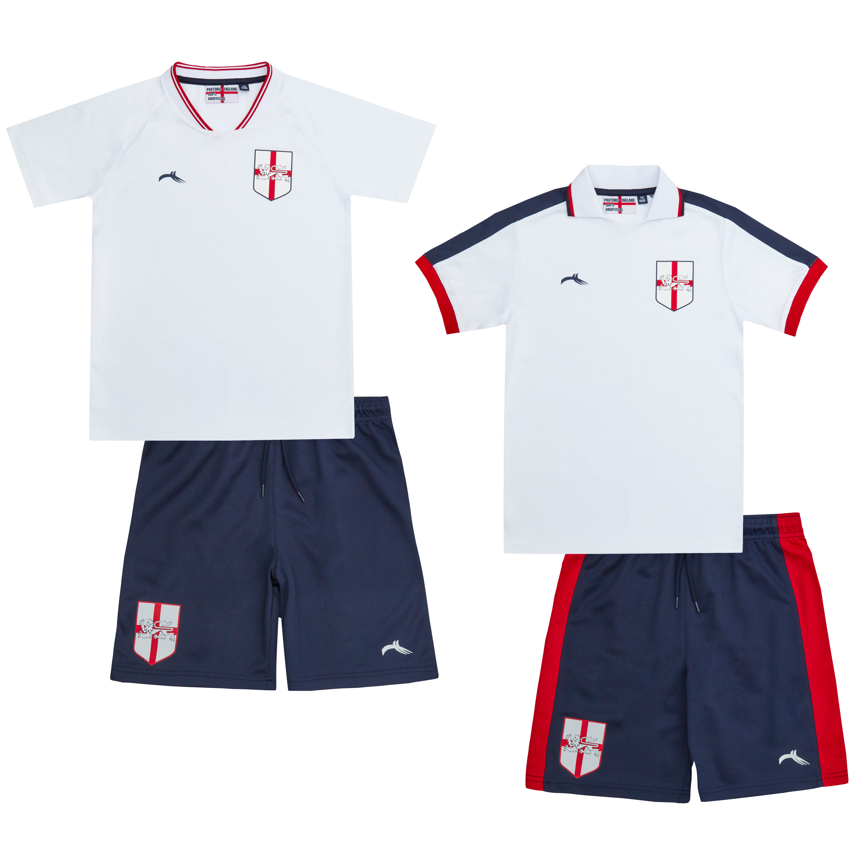 Metzuyan Boys England Football Soccer Set for Kids Shorts T-Shirt Children Gift 7-13 YRS