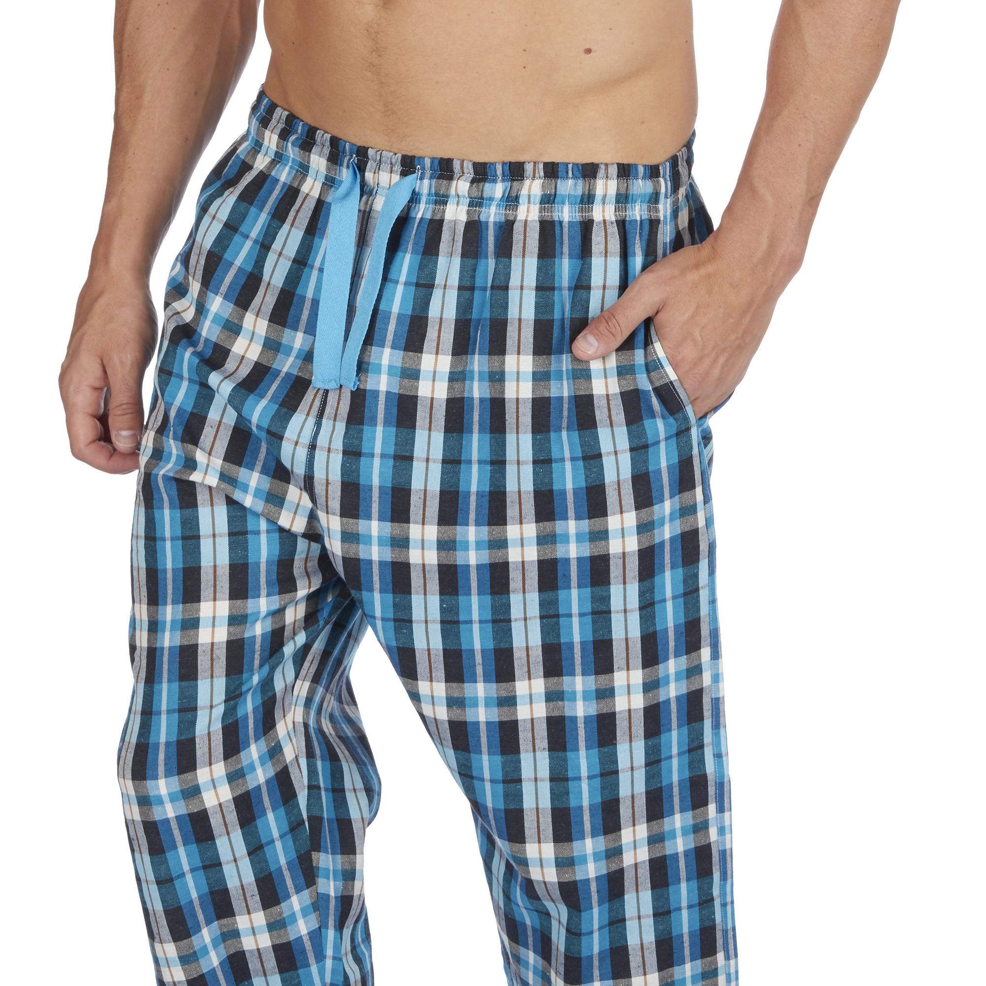 Jason-Jones-Homme-Carreaux-Tisse-Pyjama-Pantalon-en-Coton-Melange-Serge-PJ-Lounge-Pants miniature 21