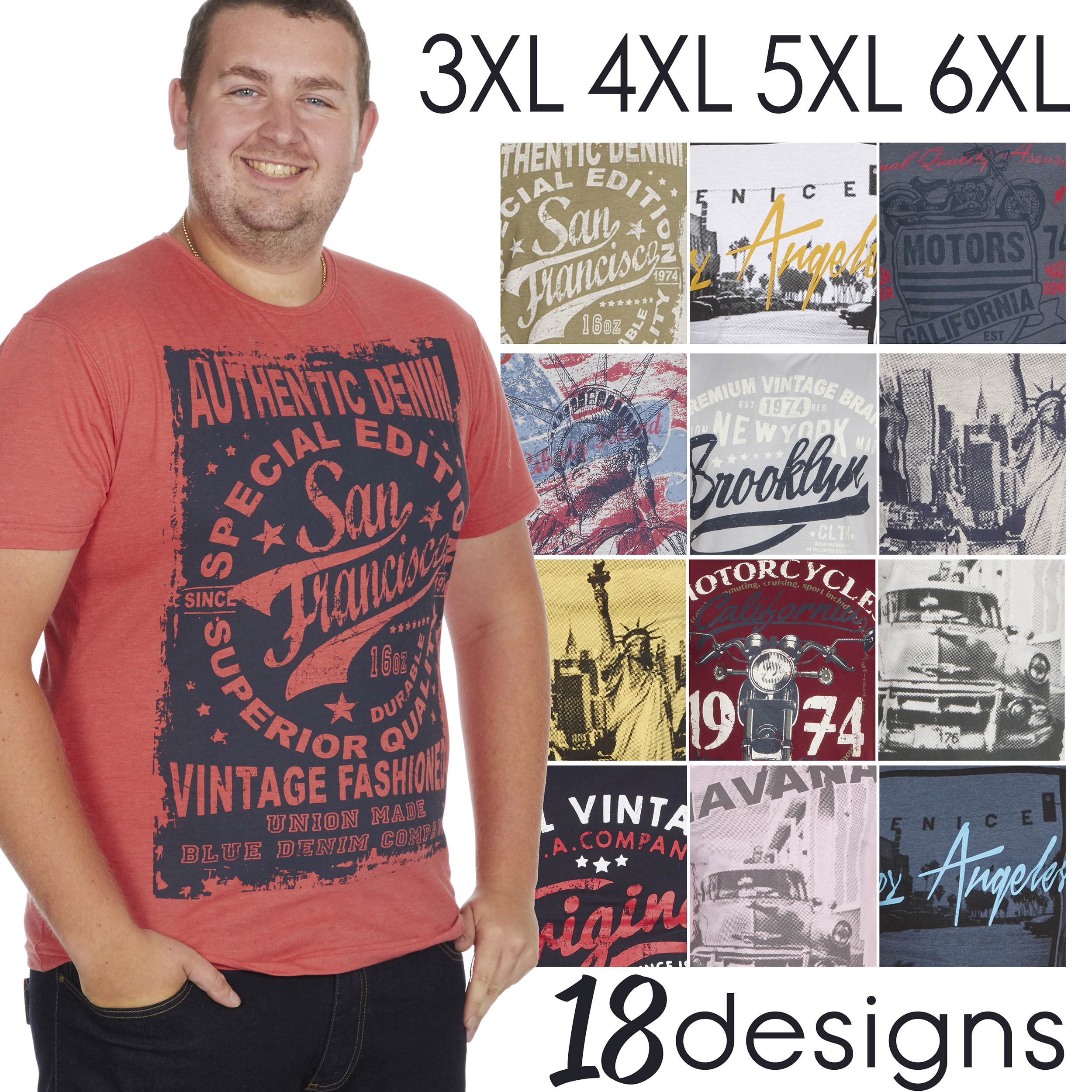 Mens Plus Size Vintage Graphic USA FLAG Print T Shirt Summer Tee Top 3XL-6XL New