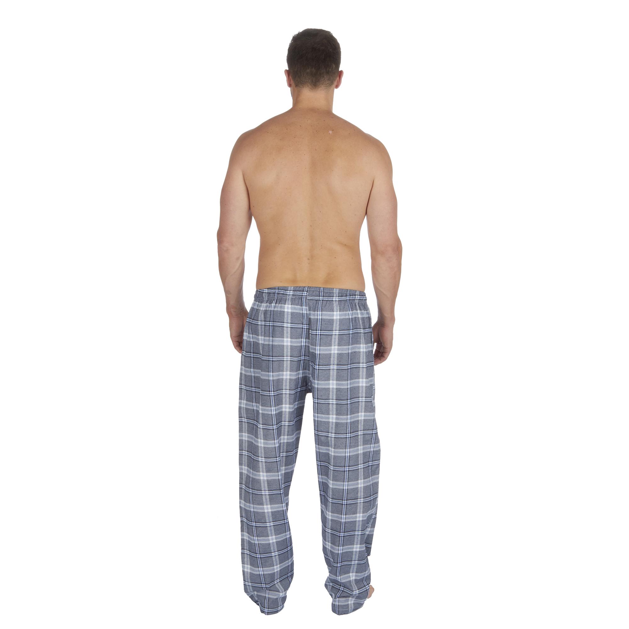 Jason-Jones-Homme-Carreaux-Tisse-Pyjama-Pantalon-en-Coton-Melange-Serge-PJ-Lounge-Pants miniature 16