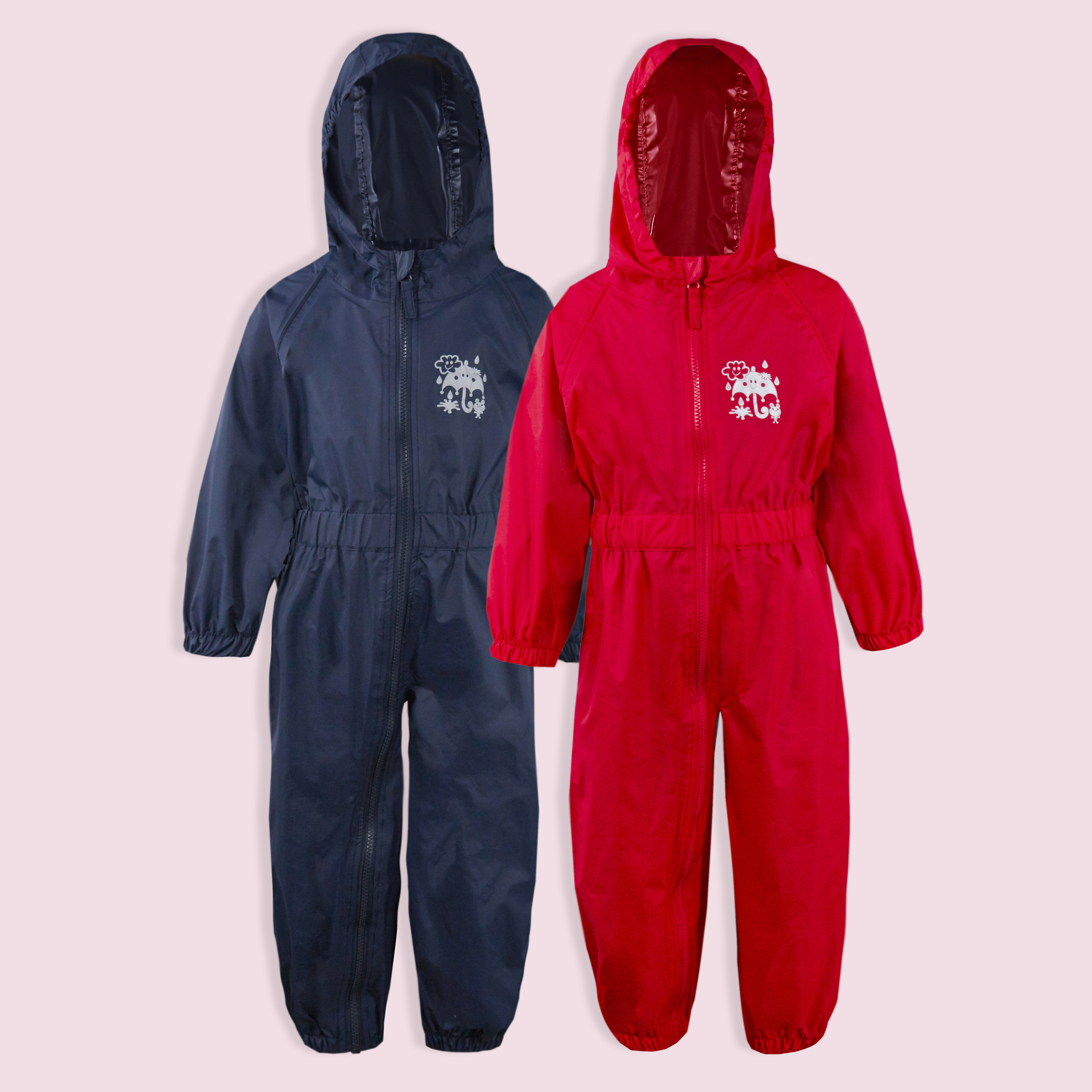 Childs-Enfants-Unisexe-Impermeable-Pluie-Puddle-Combinaison-Tout-en-Un-Leger-Fermeture-Eclair-Set miniature 17