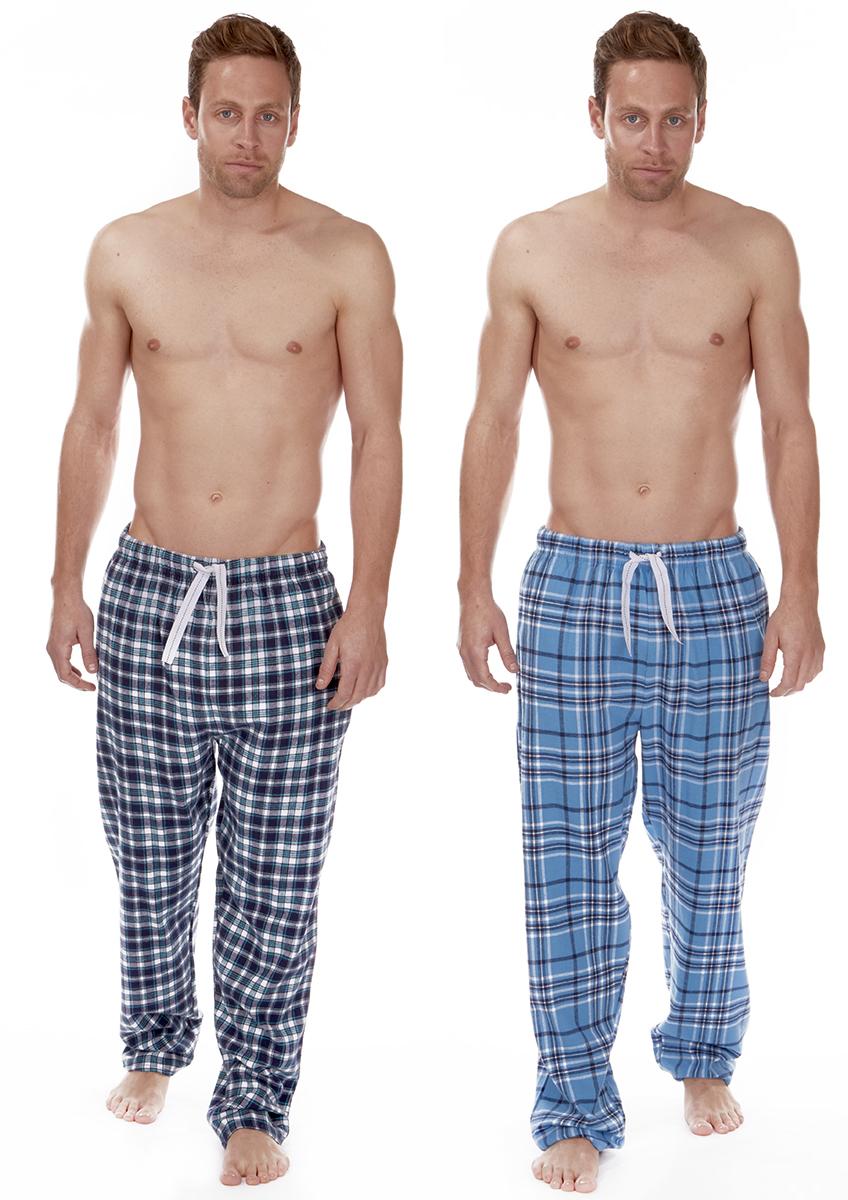 Mens Cargo Bay Microfleece Lounge Pyjamas Set PJ/'s Top /& Long Trousers Nightwear