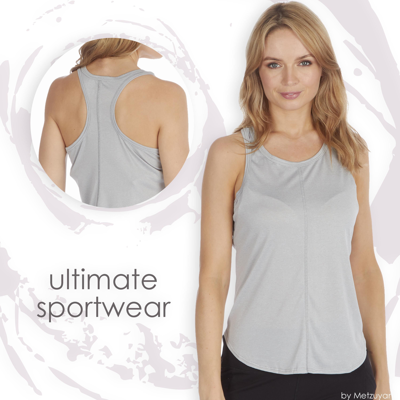 Senoras-para-mujer-Sports-Gym-Yoga-Top-T-Shirt-rendimiento-que-absorbe-activo-Talla-S-XXL miniatura 8
