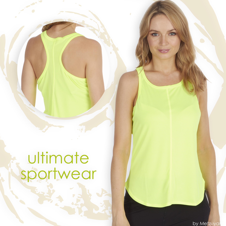 Senoras-para-mujer-Sports-Gym-Yoga-Top-T-Shirt-rendimiento-que-absorbe-activo-Talla-S-XXL miniatura 7