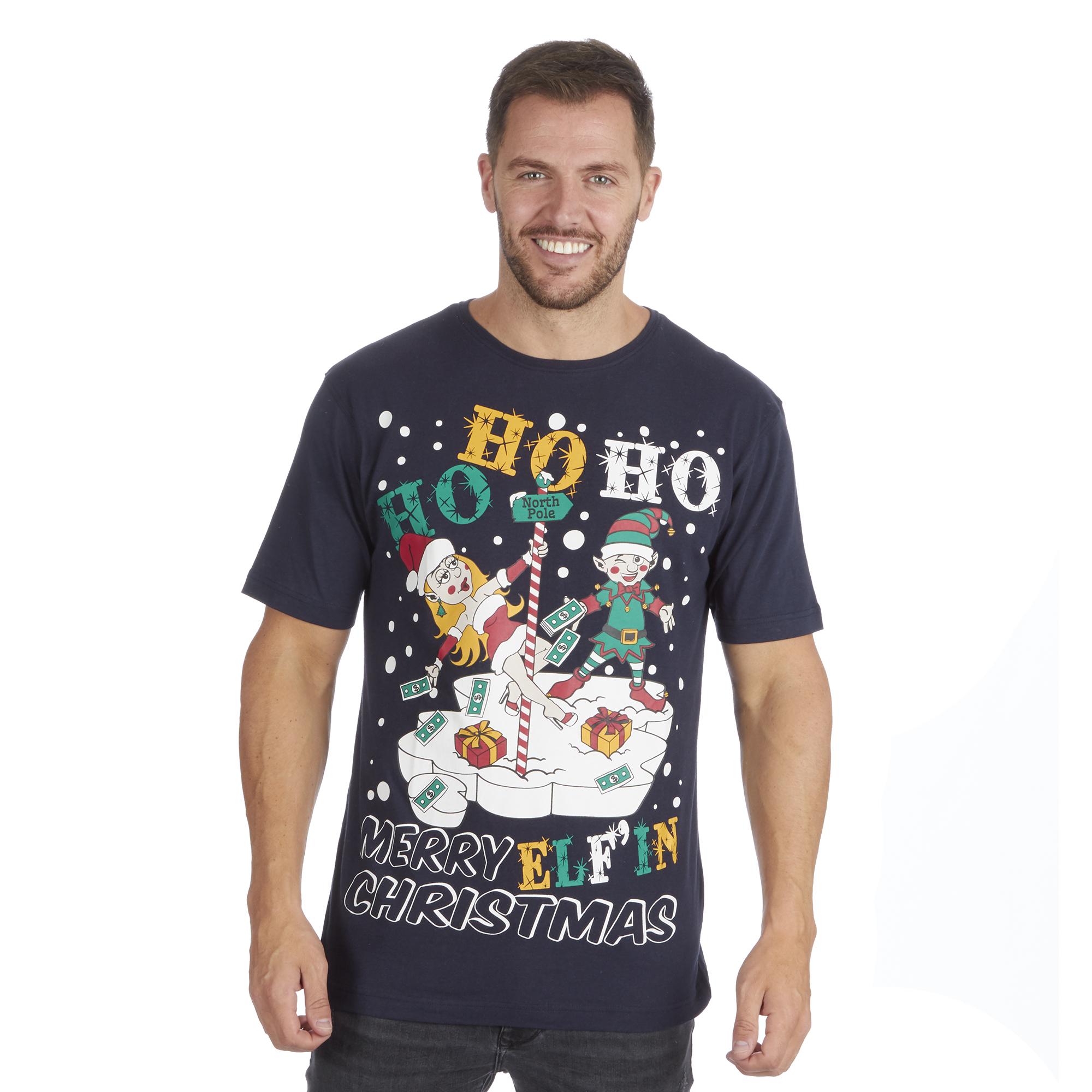 Para hombres Para mujeres Damas Novedad Eslogan Gracioso Navidad Navidad Top T-Shirt Tee Broma Grosera