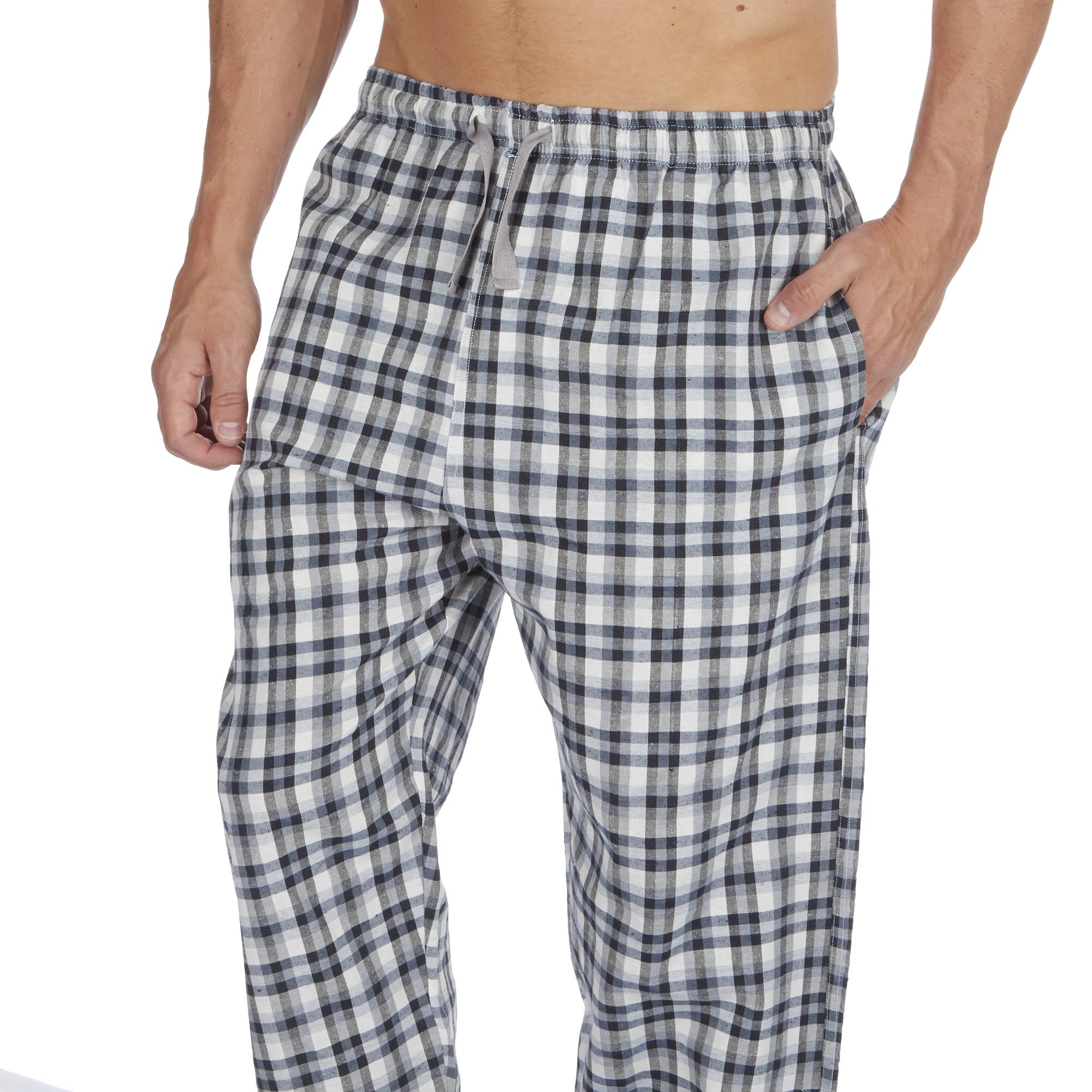 Jason-Jones-Homme-Carreaux-Tisse-Pyjama-Pantalon-en-Coton-Melange-Serge-PJ-Lounge-Pants miniature 4