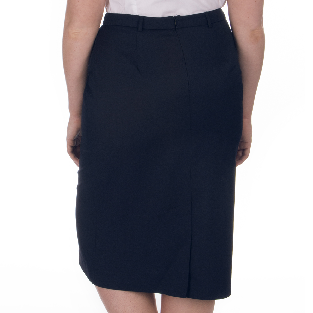 NEW 2239 stretch skirt office day black size 10-22
