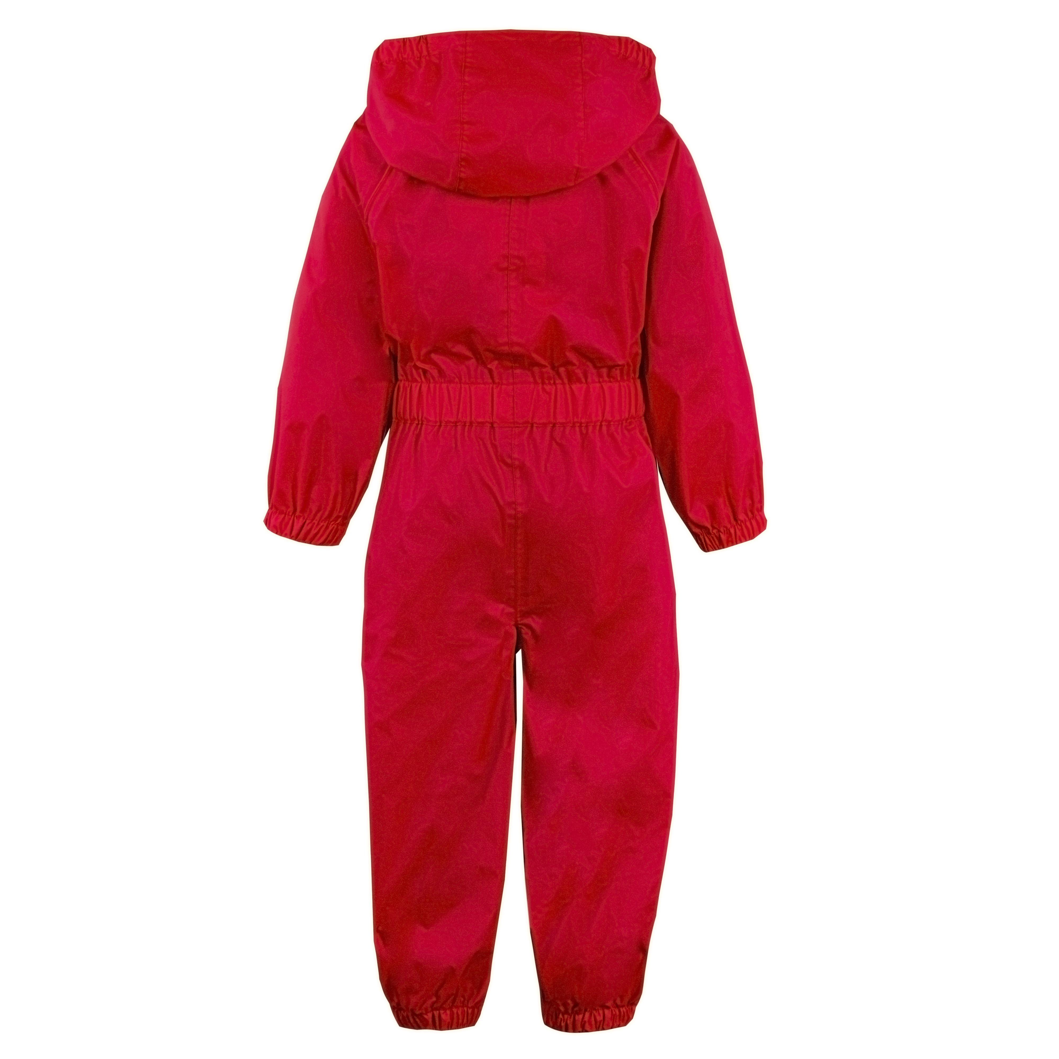 Childs-Enfants-Unisexe-Impermeable-Pluie-Puddle-Combinaison-Tout-en-Un-Leger-Fermeture-Eclair-Set miniature 10