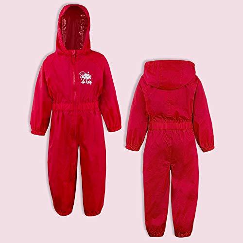 Childs-Enfants-Unisexe-Impermeable-Pluie-Puddle-Combinaison-Tout-en-Un-Leger-Fermeture-Eclair-Set miniature 11