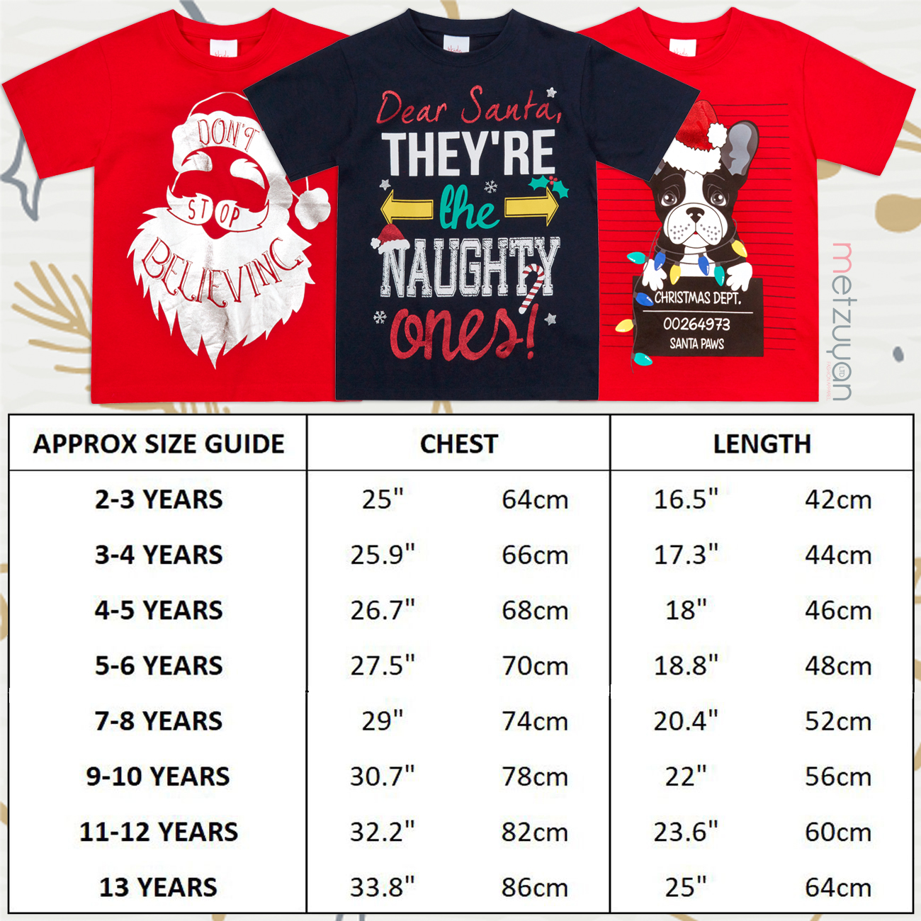 Childrens-Girls-Boys-Xmas-T-Shirts-Printed-Christmas-Design-100-Cotton-2-13-Yrs thumbnail 8
