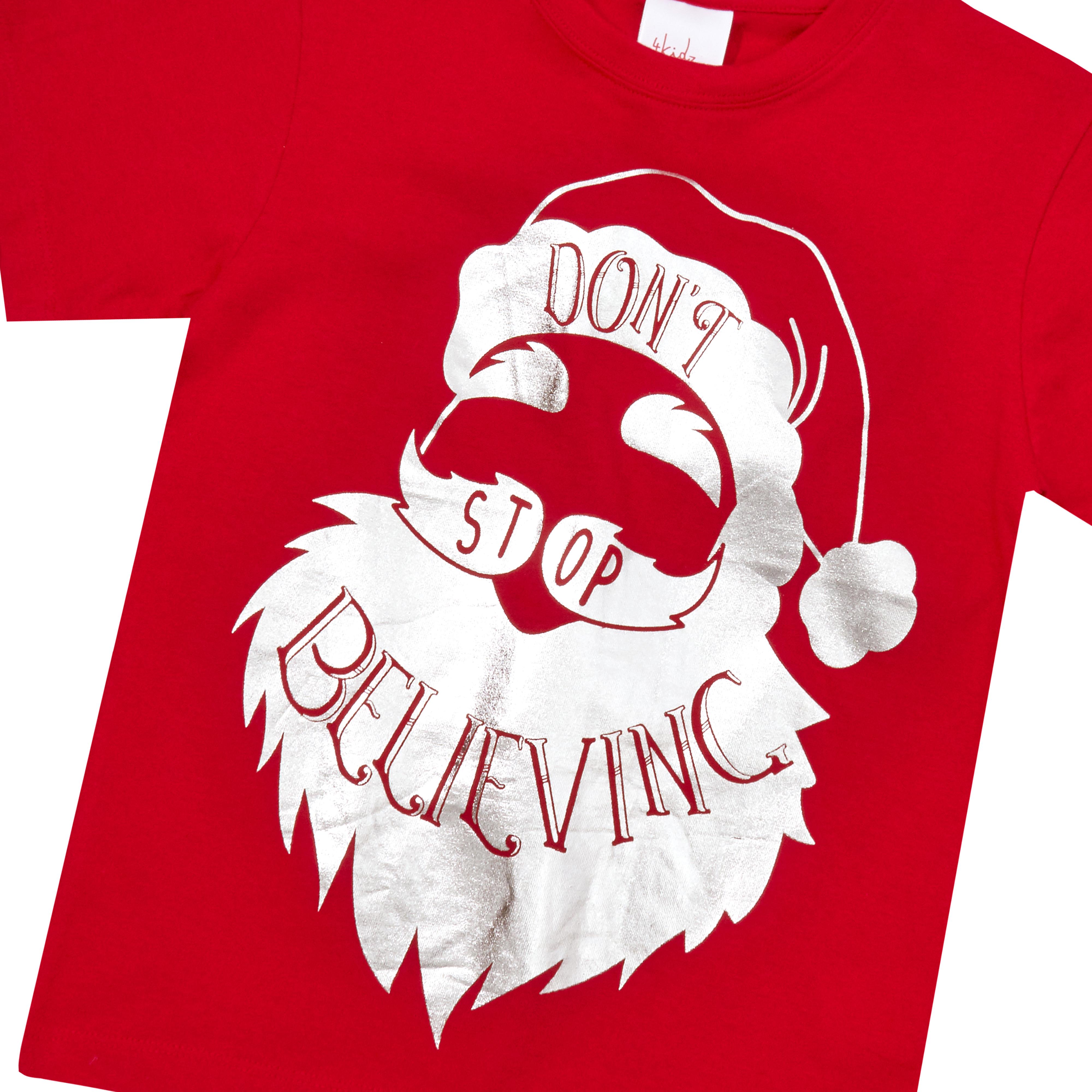 Childrens-Girls-Boys-Xmas-T-Shirts-Printed-Christmas-Design-100-Cotton-2-13-Yrs thumbnail 7