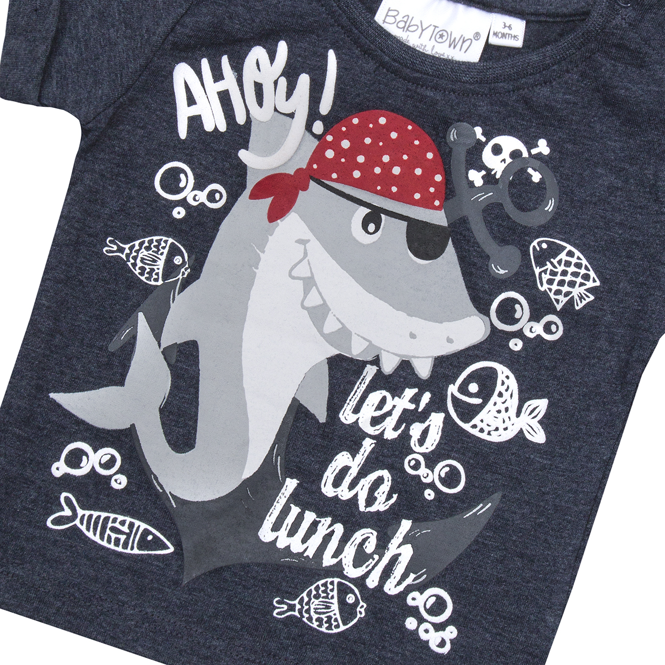 BABYTOWN Newborn Baby Boys Novelty T-Shirts Cotton Rich Character Tops 0-24m