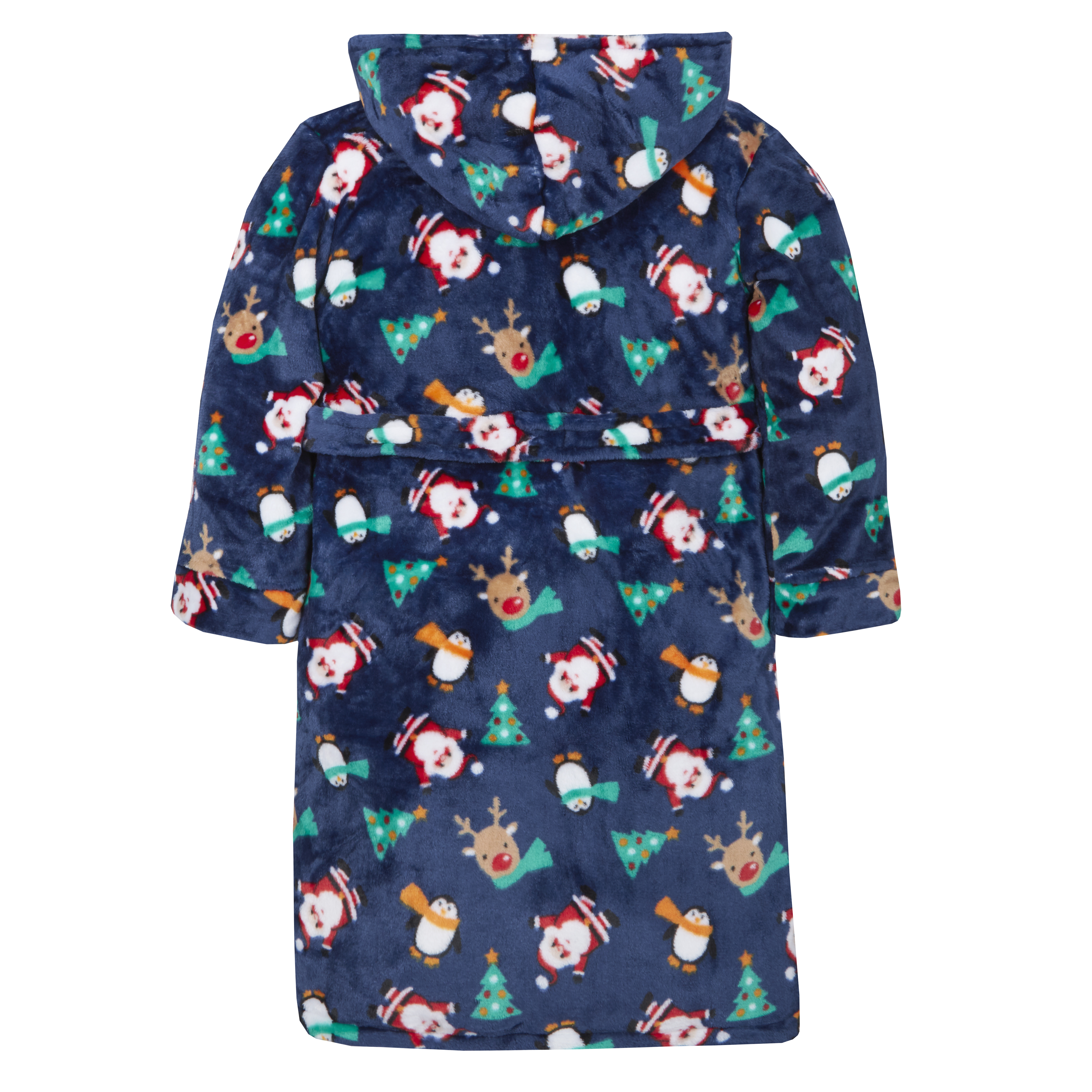 MiniKidz /& 4Kidz Childrens//Boys Blue Outer Space Print Plush Fleece Dressing Gown 7-8 Years