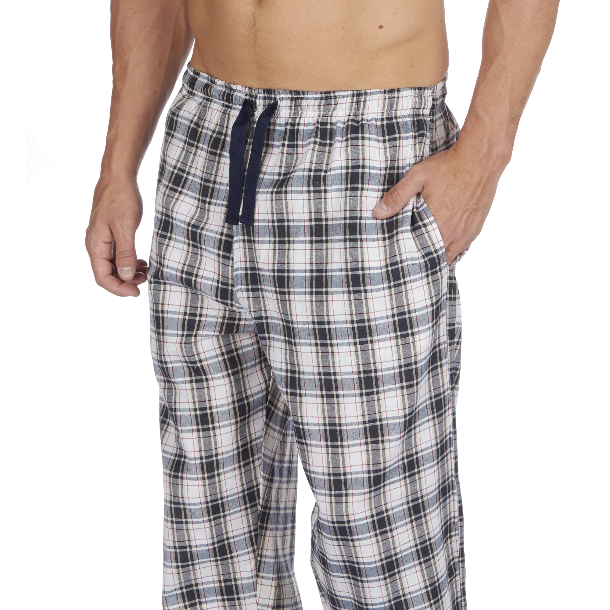 Jason-Jones-Homme-Carreaux-Tisse-Pyjama-Pantalon-en-Coton-Melange-Serge-PJ-Lounge-Pants miniature 8