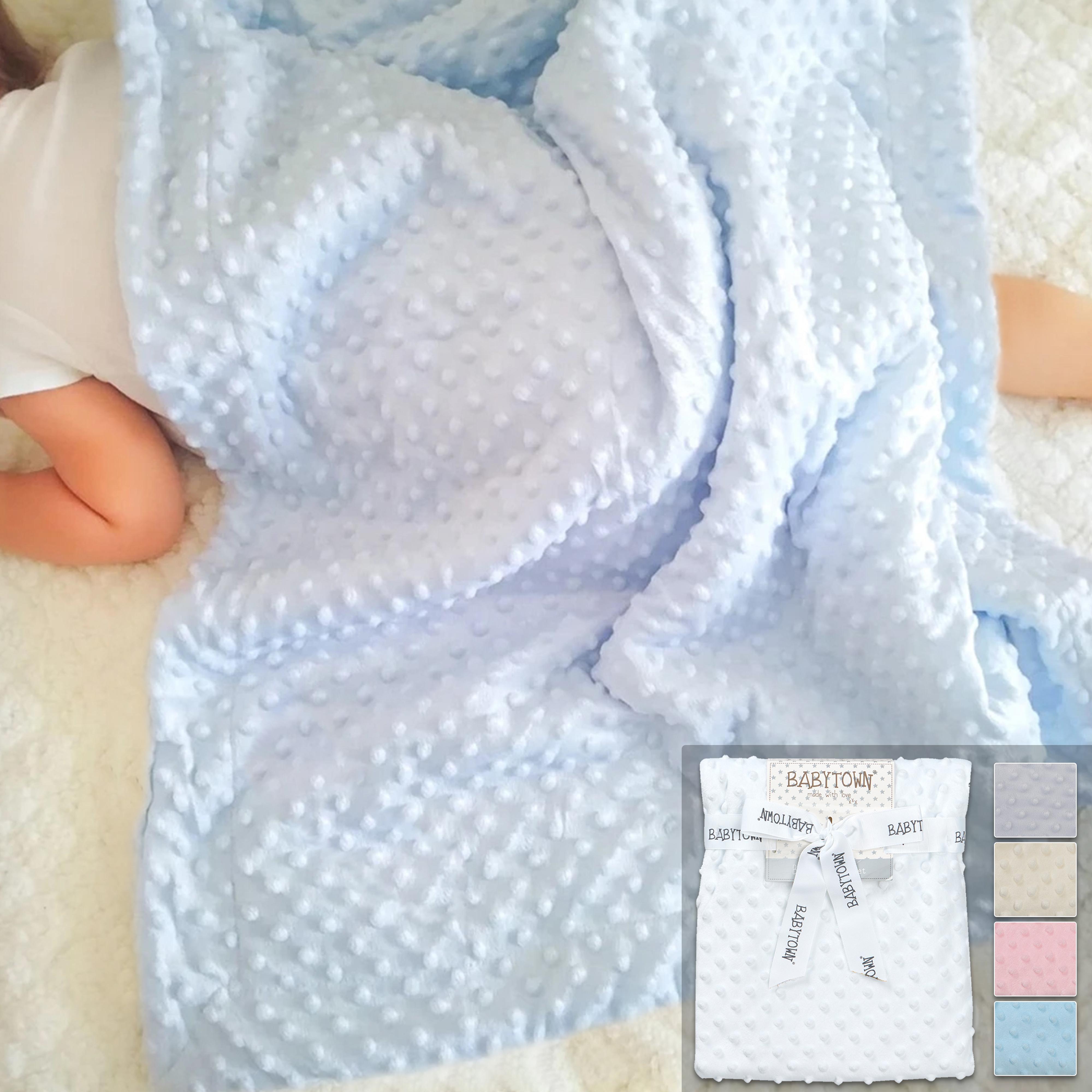BABY SOFT FLEECE BLANKET NEWBORN CRIB PRAM INFANT 70x70cm BOY GIRL 3 COLOURS