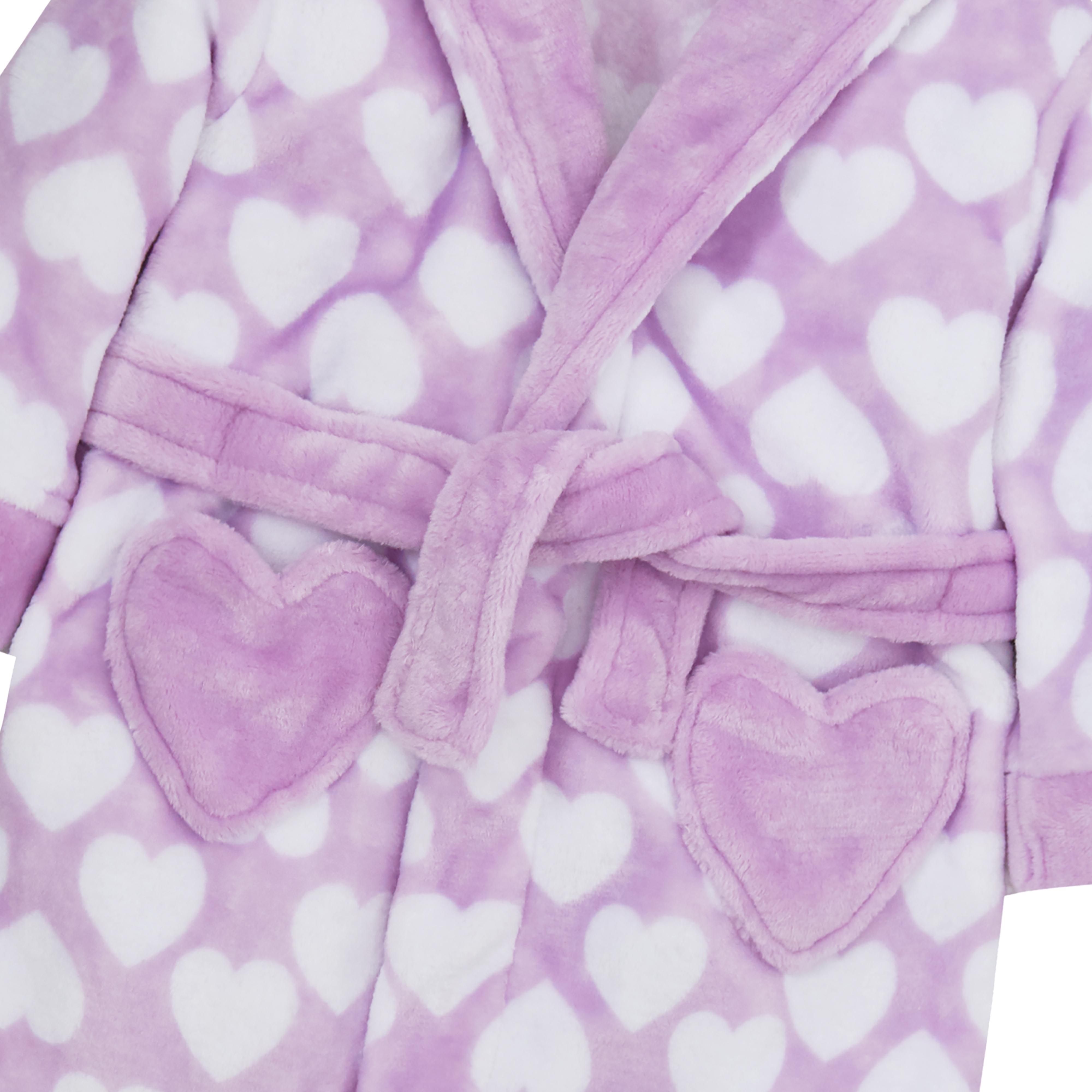 Kids Childrens Girls Boys Dressing Gown Fleece Hooded Robe Bath Robe Free Gift