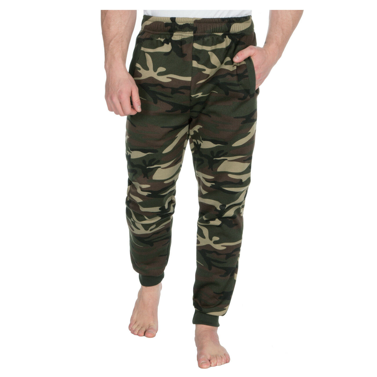 Photno Mens Joggers Casual Slim Fit Sweatpants Workout Exercise Pants Big and Tall Elastic Waist Trousers