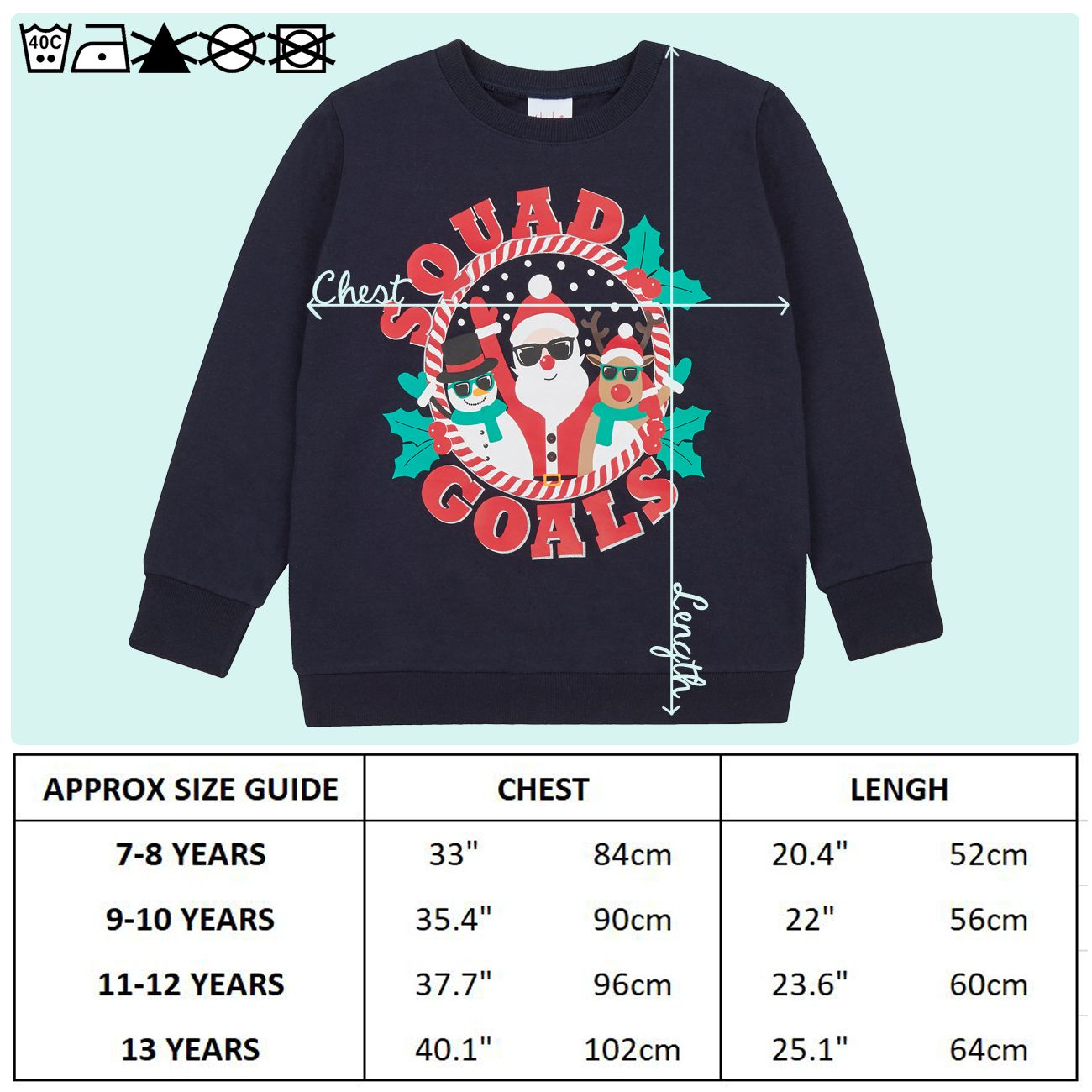 Enfants-Garcons-Filles-Noel-Noel-Pull-Sweat-shirt-Carlin-Glitter-chaud miniature 11