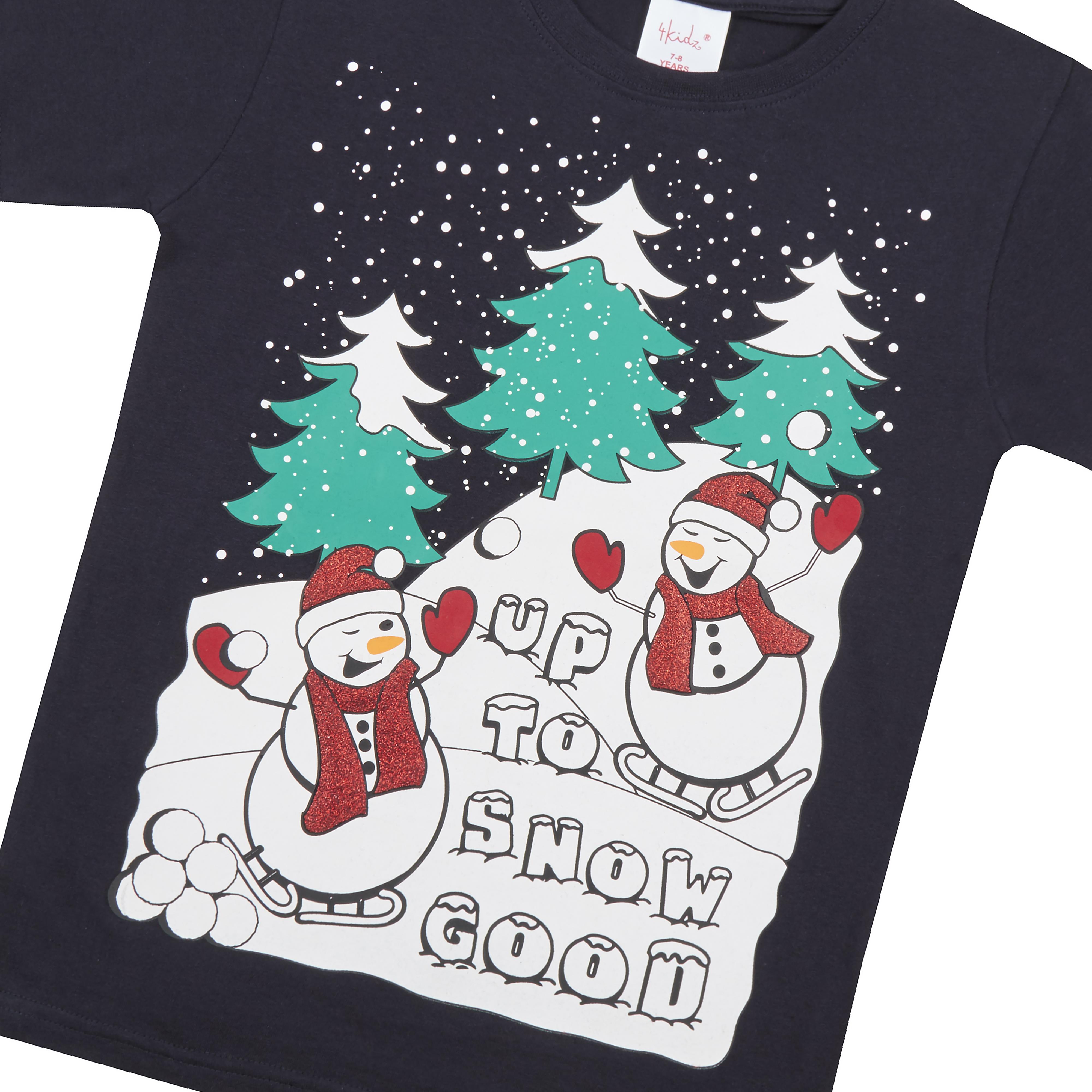 Childrens-Girls-Boys-Xmas-T-Shirts-Printed-Christmas-Design-100-Cotton-2-13-Yrs thumbnail 28
