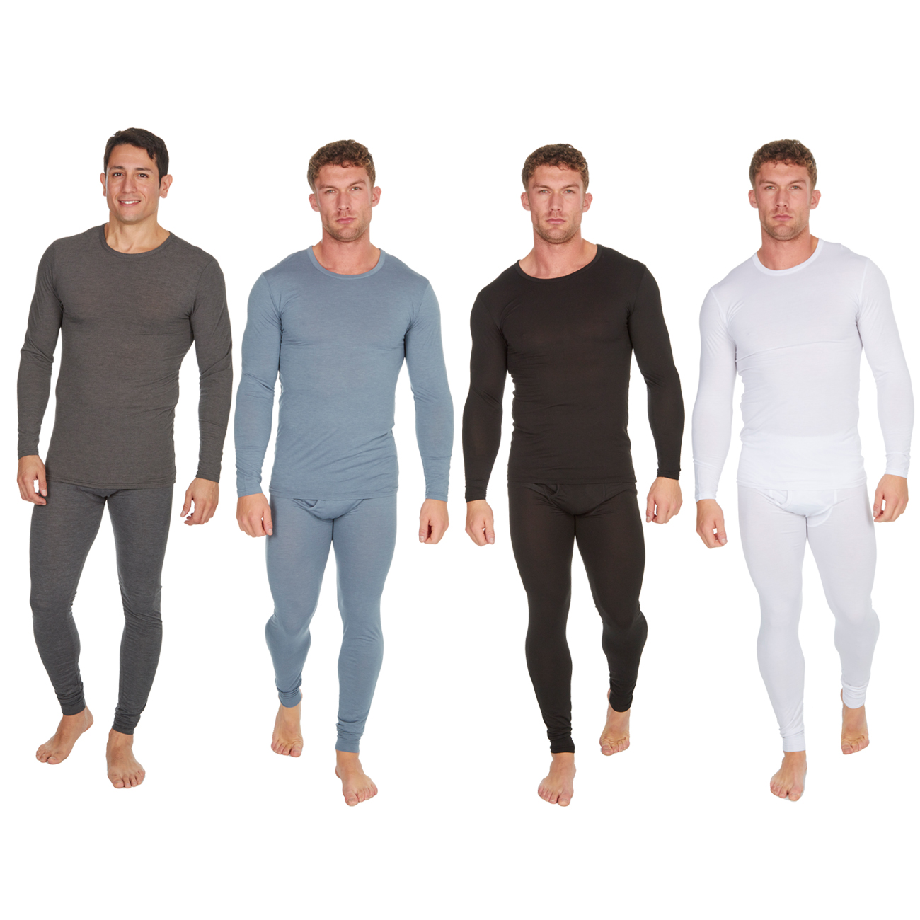 Great Ski Outdoor Work Base Layer Long Johns Bottom Trousers /& Long Sleeve T//Shirt Top Vest Mens 2 Piece Thermal Set