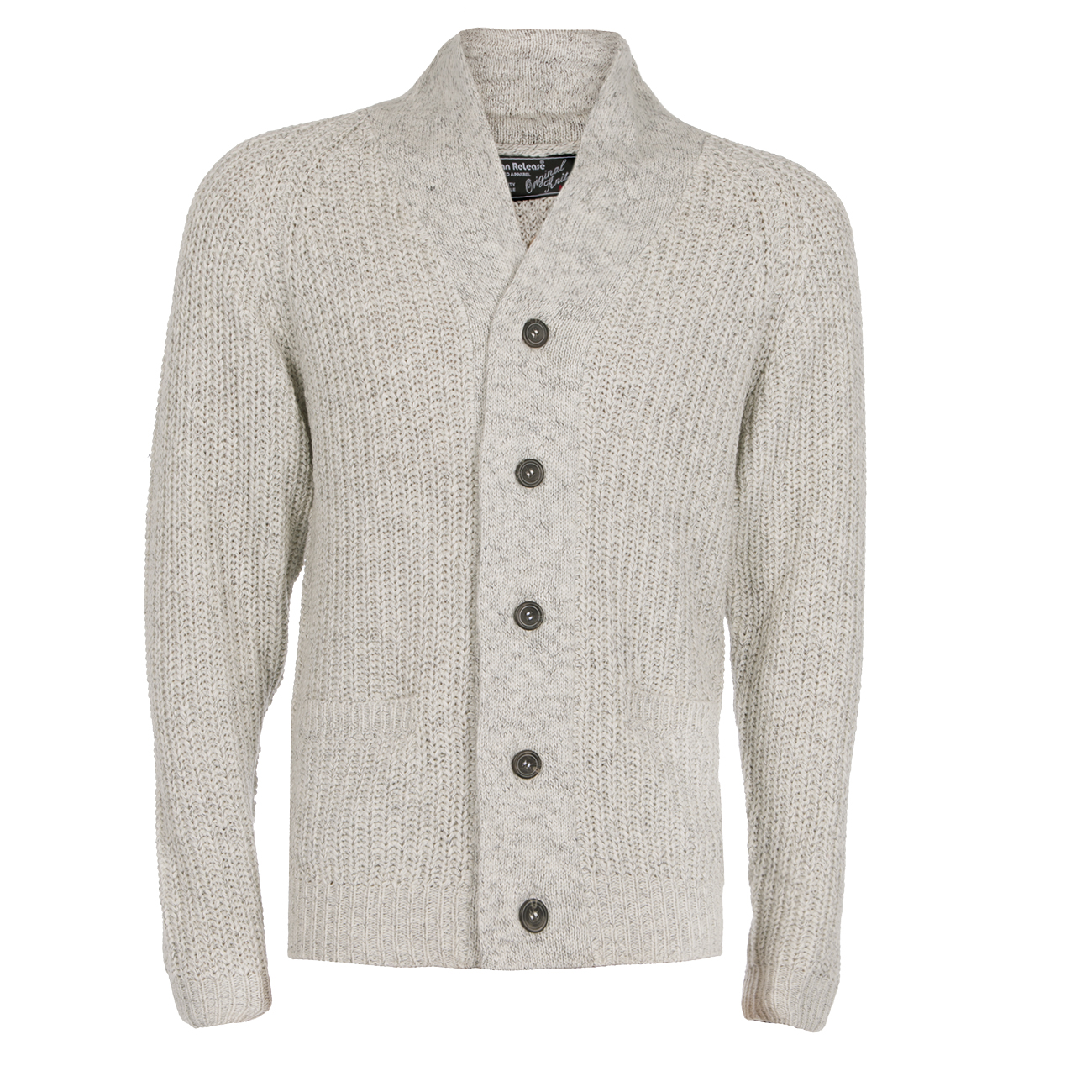 Homme-Tricot-Cardigan-boutonne-col-chale-Pull-Knitwear-Travail-Pull-UK miniature 6