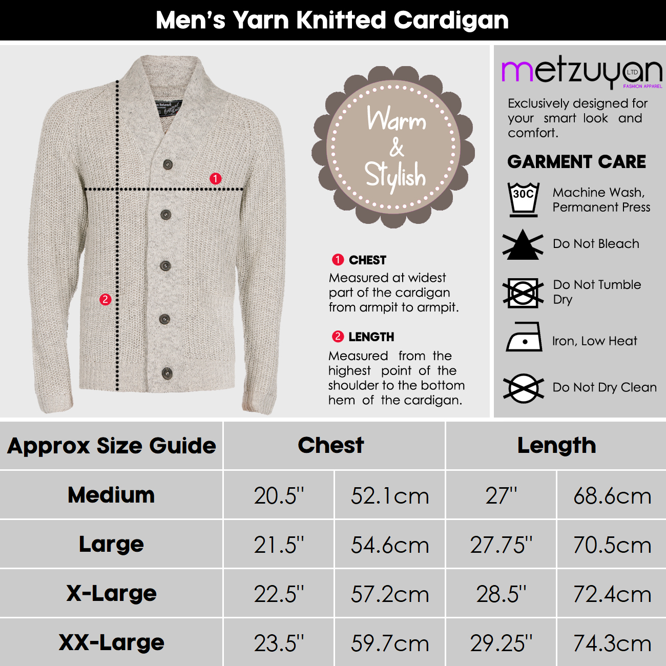 Homme-Tricot-Cardigan-boutonne-col-chale-Pull-Knitwear-Travail-Pull-UK miniature 7