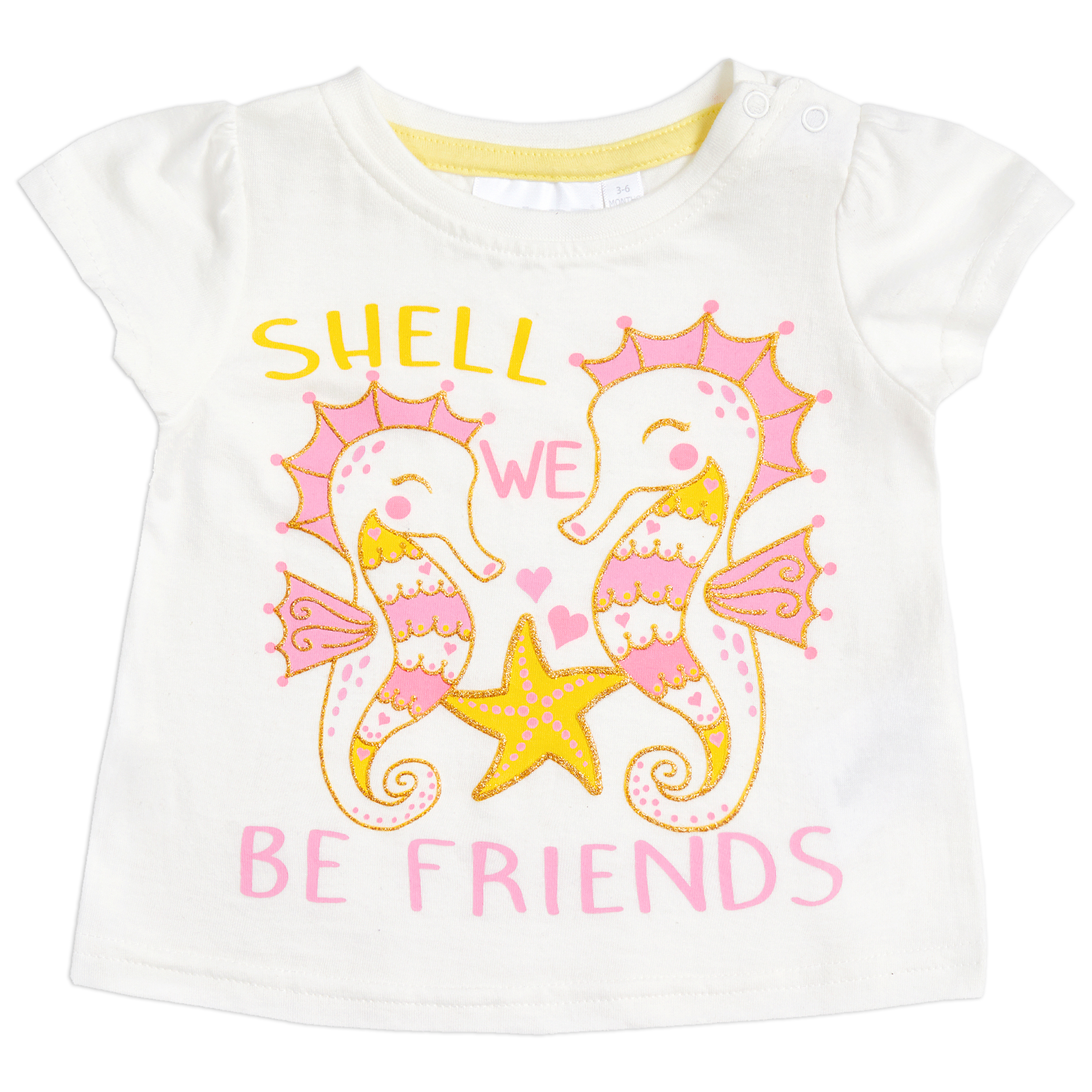Newborn Baby Girls Nouveauté T-Shirt Coton Riche Top Poppers Imprimé Âge 3-24 mois