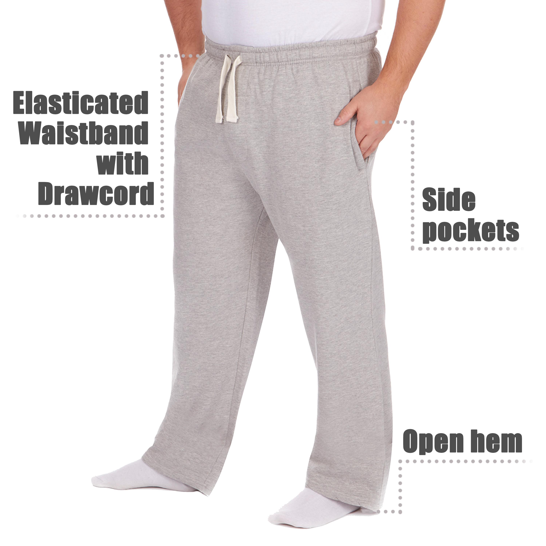 Men-039-s-Plus-Size-Jogging-Bottoms-Sudare-Pantaloni-Da-Jogging-Pantaloni-Orlo-a-manichetta-taglia miniatura 7