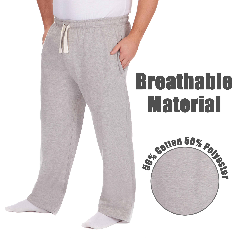 Men-039-s-Plus-Size-Jogging-Bottoms-Sudare-Pantaloni-Da-Jogging-Pantaloni-Orlo-a-manichetta-taglia miniatura 8