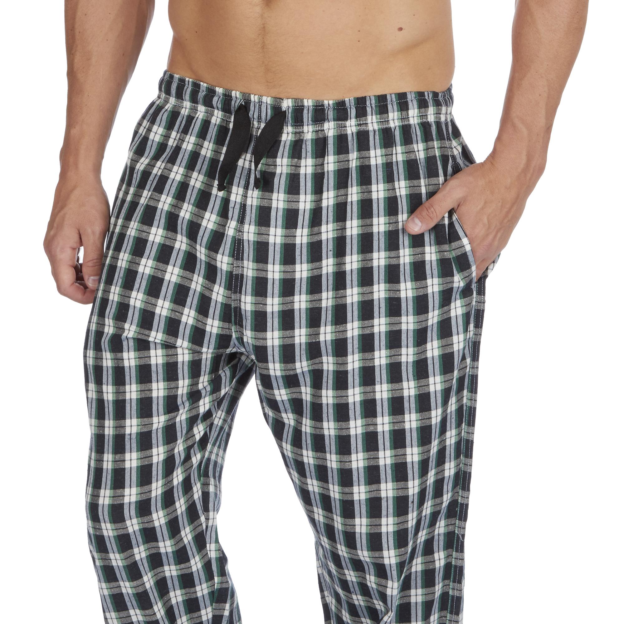 Jason-Jones-Homme-Carreaux-Tisse-Pyjama-Pantalon-en-Coton-Melange-Serge-PJ-Lounge-Pants miniature 12