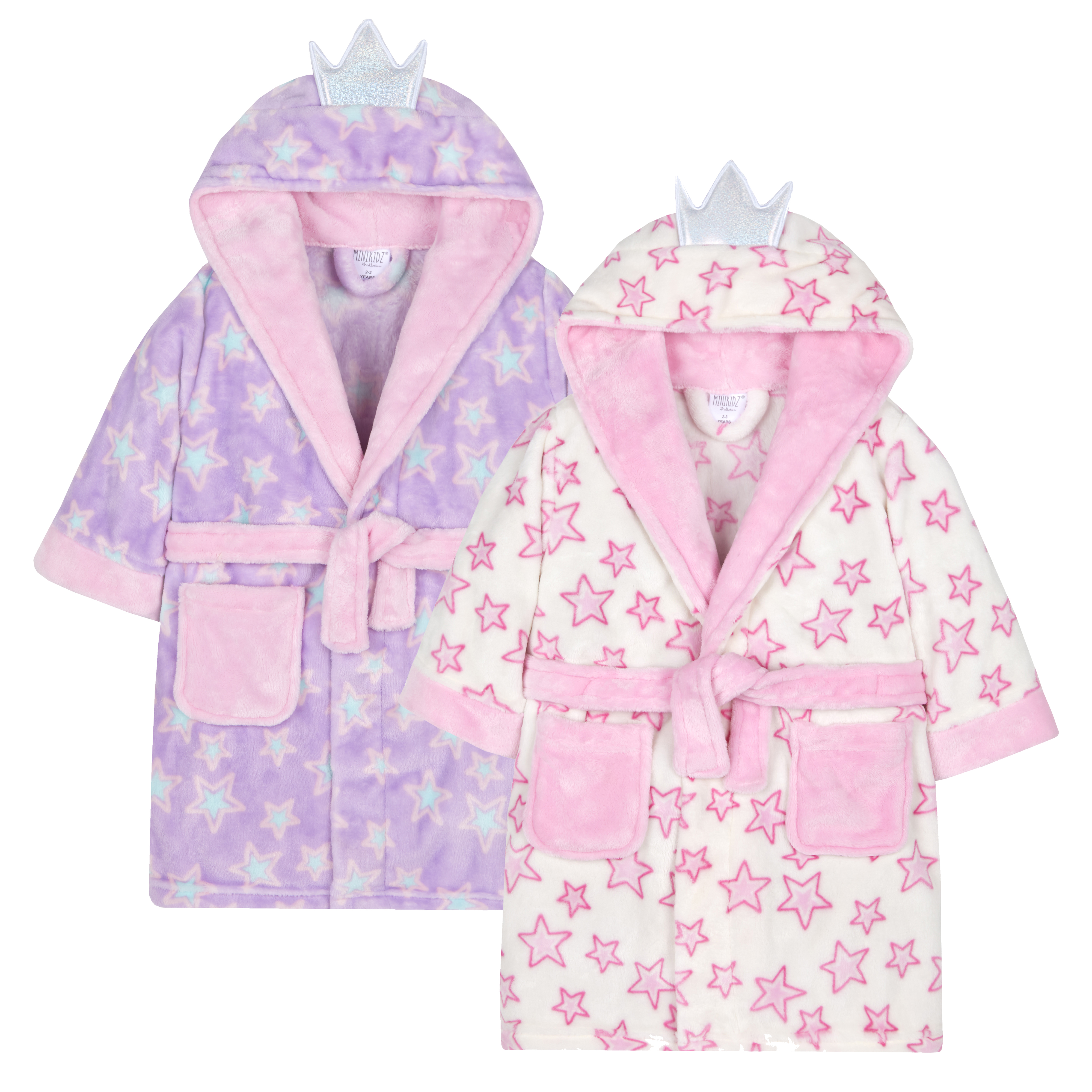 bd639664ac Details about Girls Fairy Princess Dressing Gown Robe Plush Fleece Soft  Toddler Hooded Novelty