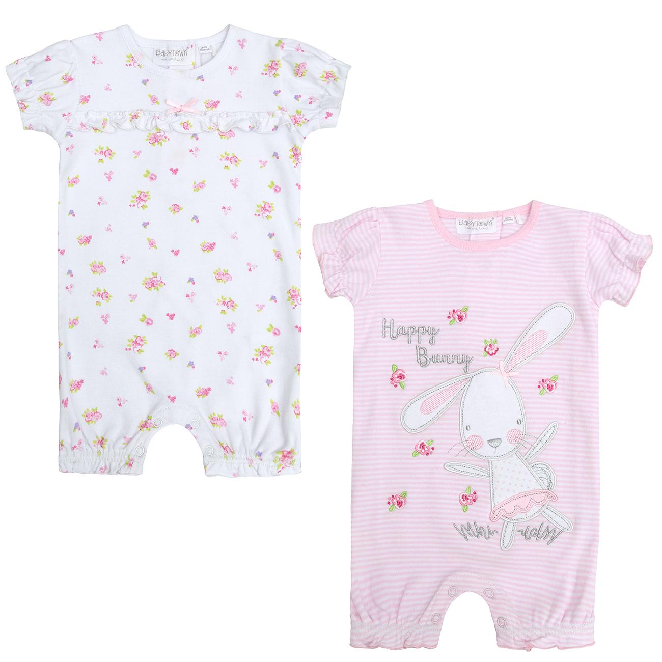 Newborn Infant Baby Girls Bunny Sleepsuit Set Cradle Cute Cap Hat NB 9 Months